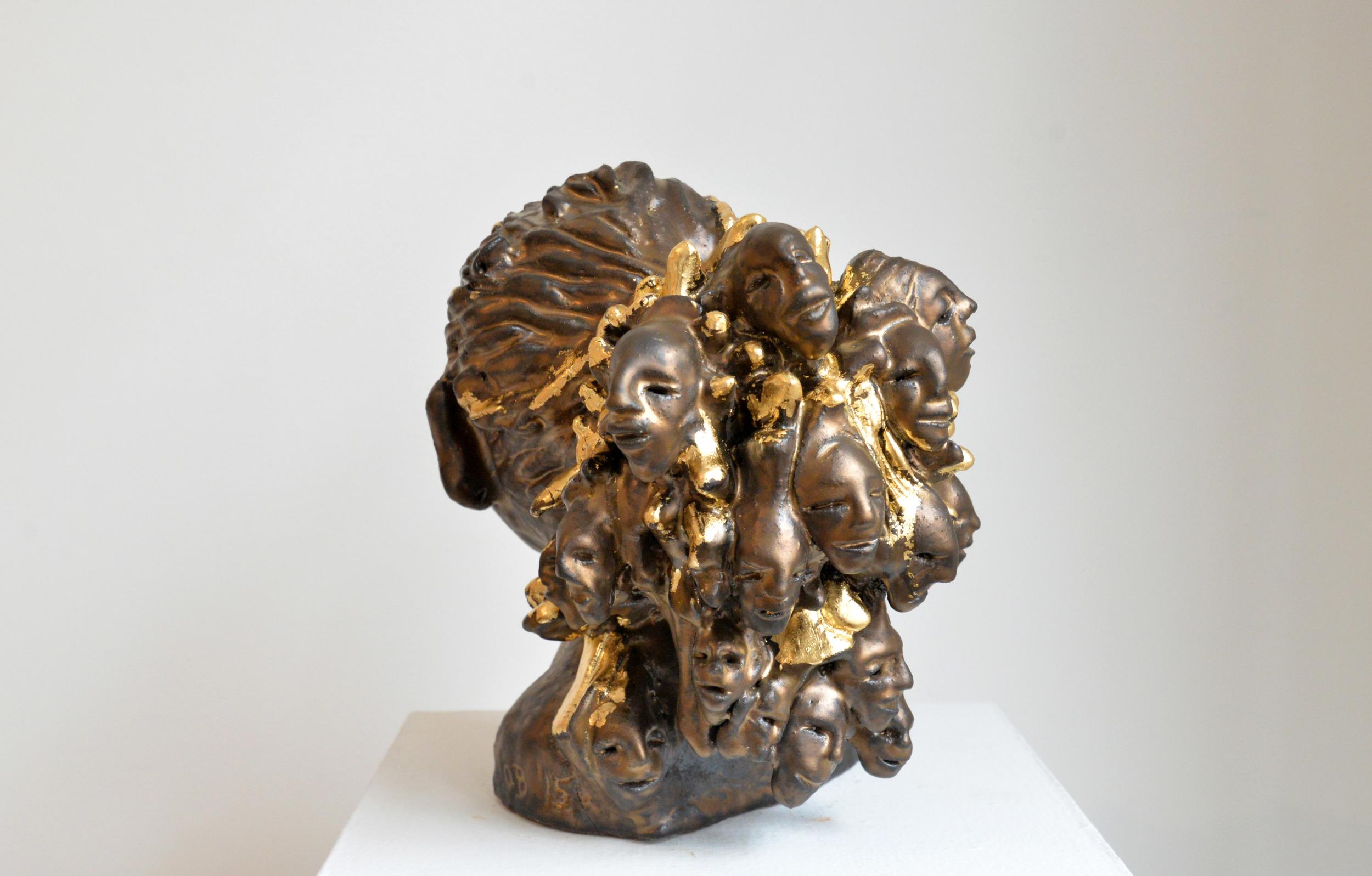 """Mother of Thousands, Glazed ceramic, 12"""" x 11"""" x 7"""", 2015"""