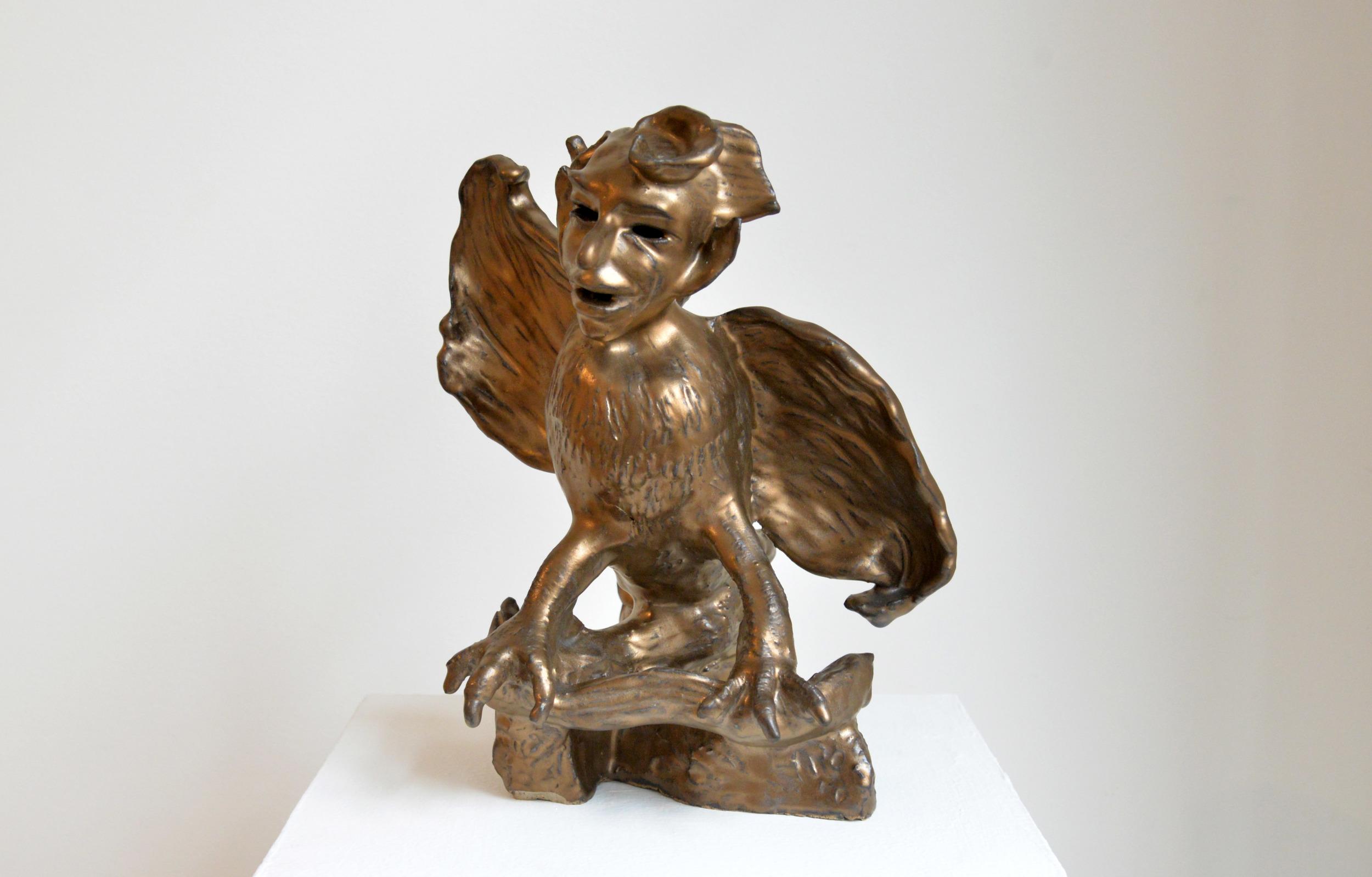 """Garuda, Glazed ceramic, 12"""" x 10"""" x 9"""", 2015"""