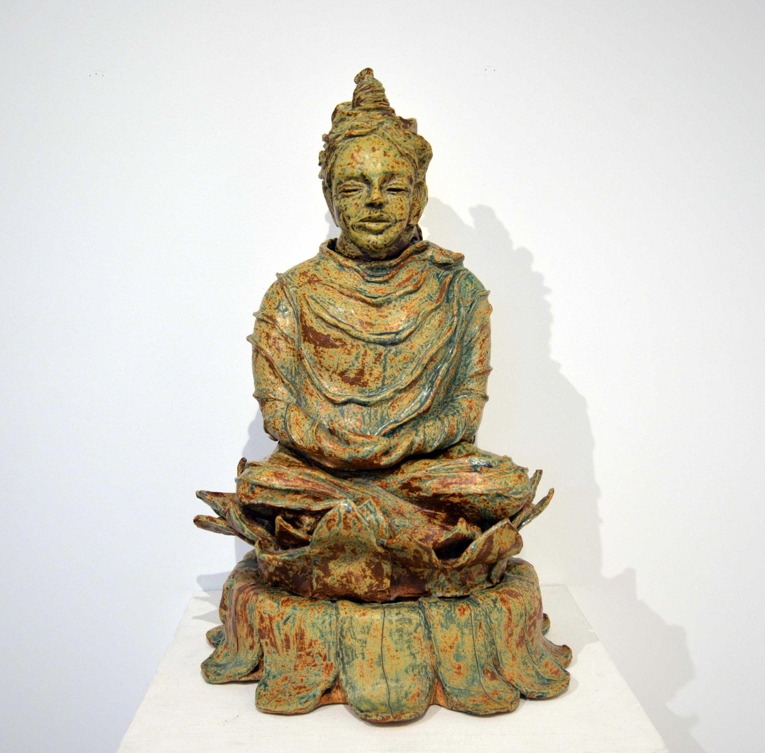 """Bodhisattva for Yvonne, Glazed ceramic, 31.5"""" x 22"""" x 18"""", 2013"""