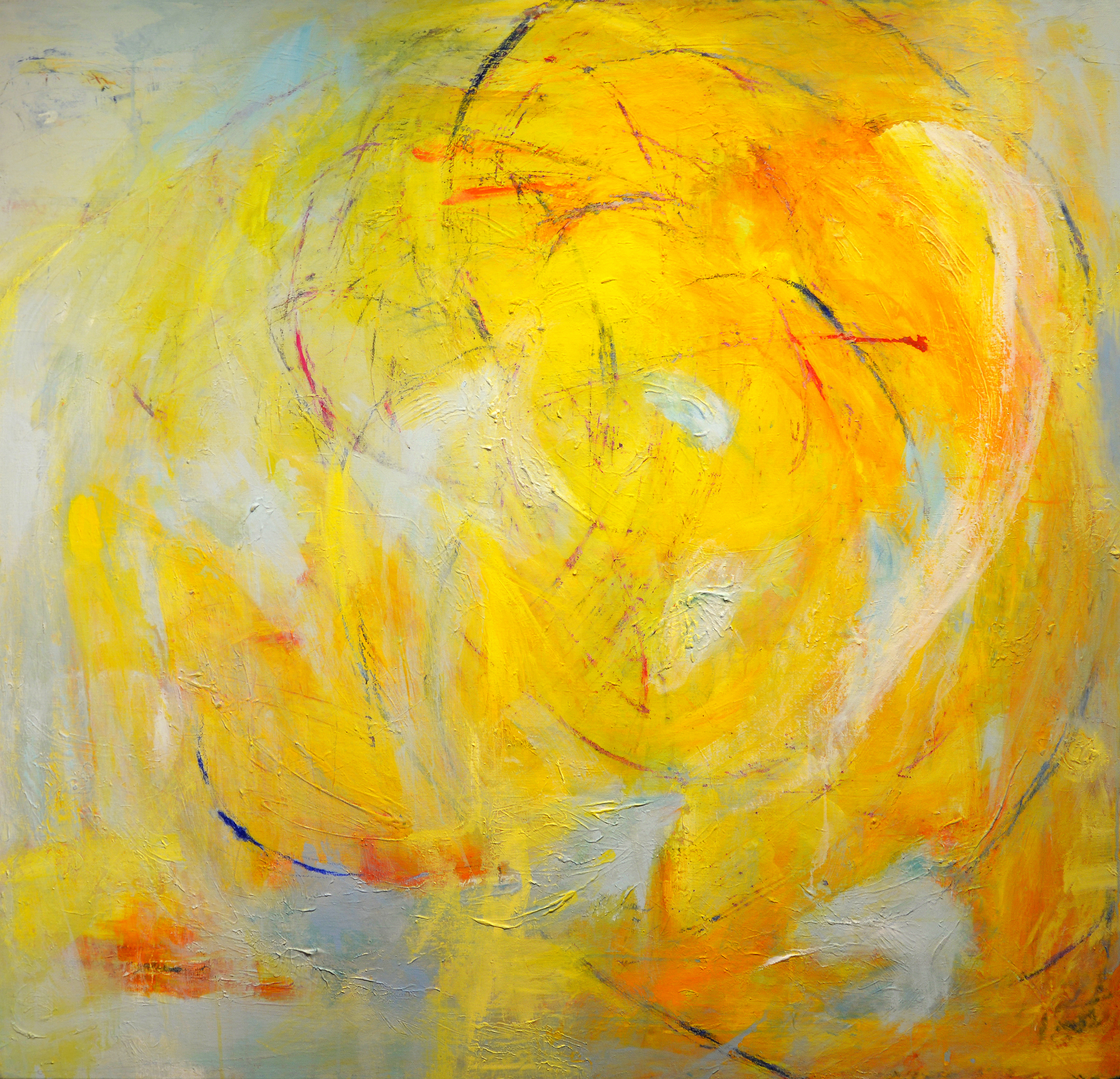 "Basia Goldsmith Light Acrylic on canvas 52"" x 56"", 2015"