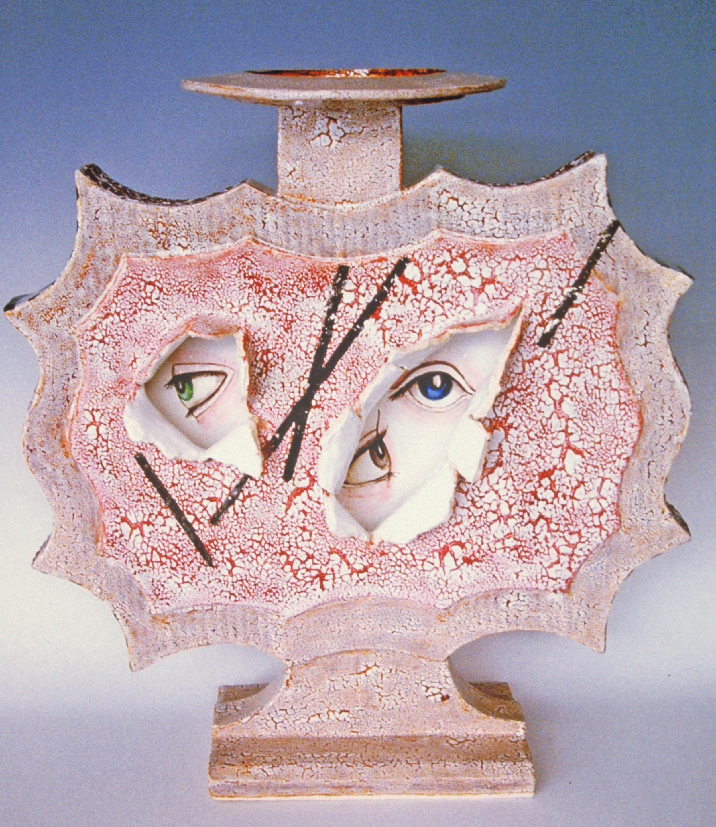 """""""On the possibility that vessels could have souls"""" ceramic sculpture, 21"""" x 19"""" x 9"""", 2012"""