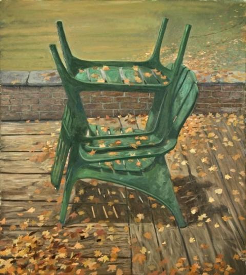 "Facsimile, oil on canvas, 43"" x 48"", 2009-15"