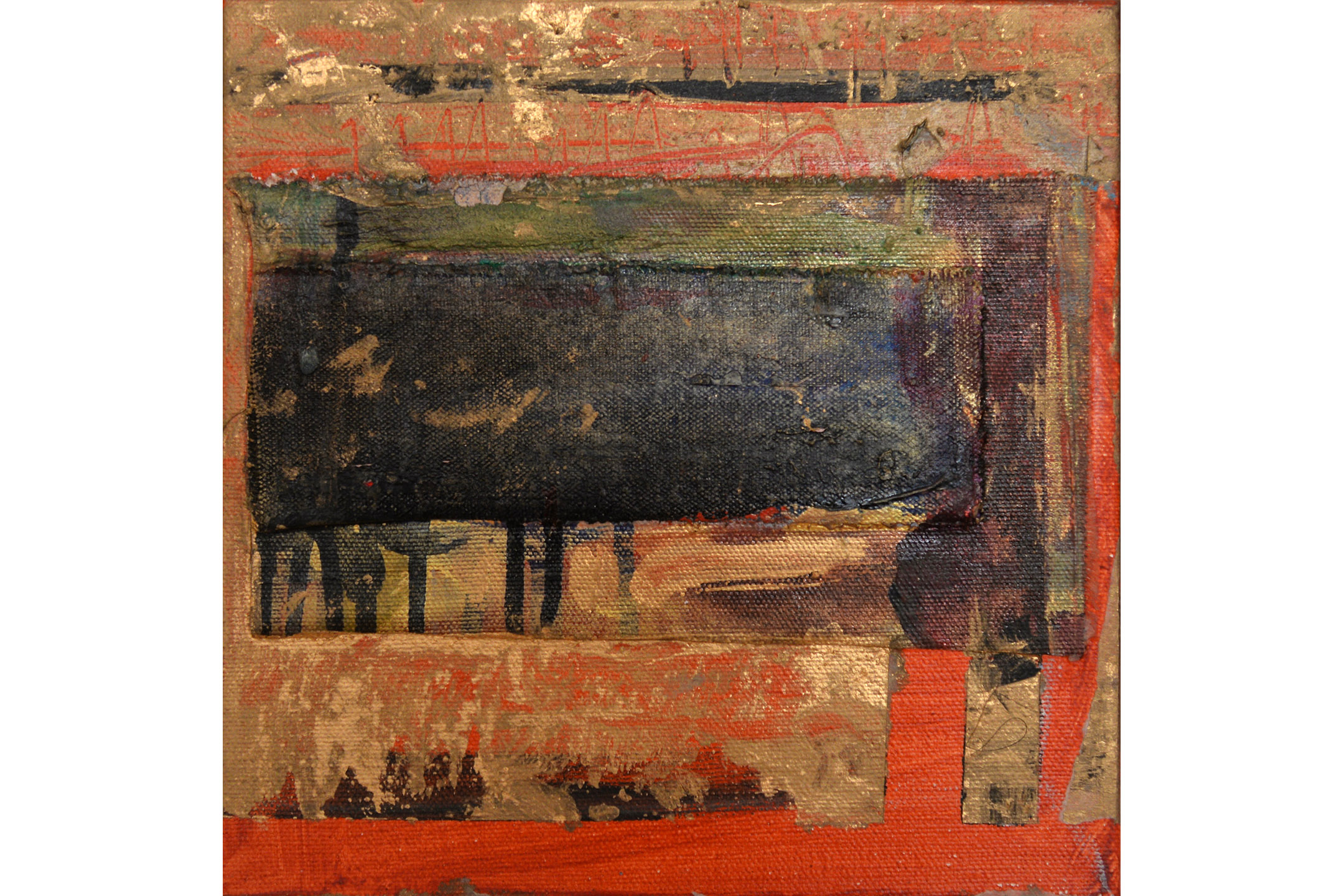 "Basia Goldsmith, Untitled, Mixed media on canvas, 8"" x 8"", 2016"