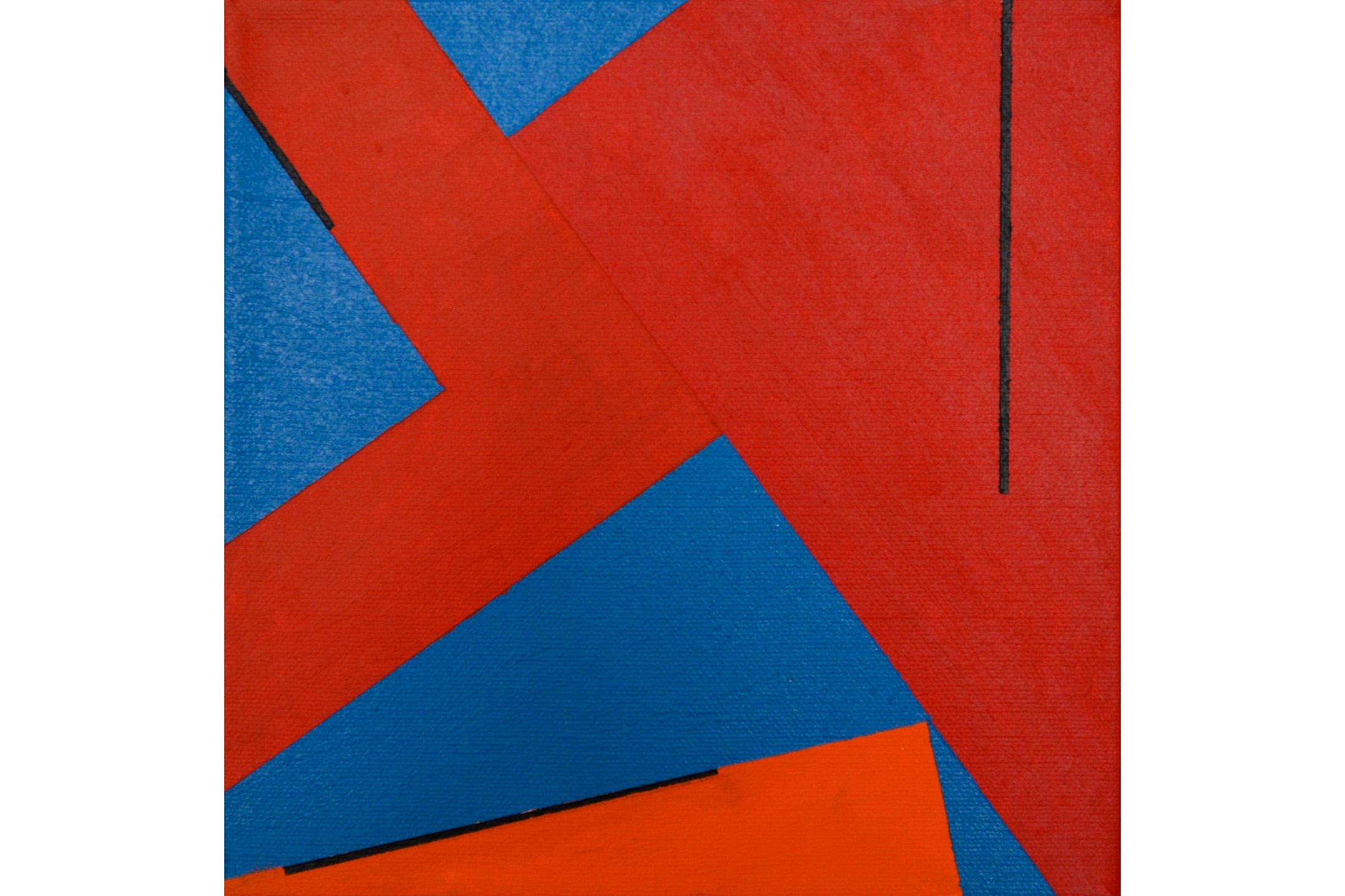 "Solomon Ethe, Untitled, Acrylic on canvas, 8"" x 8"", 2016"