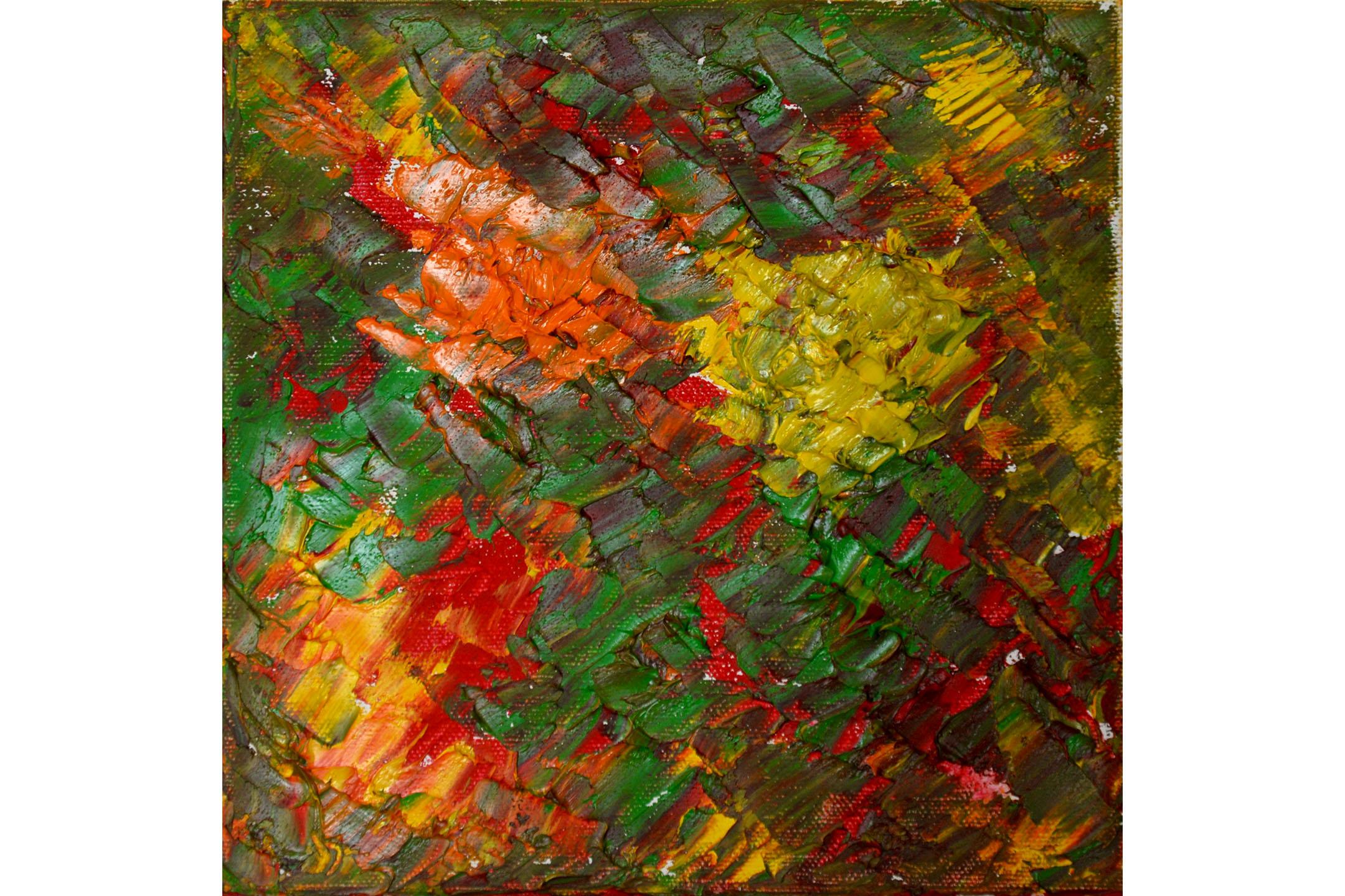 """Vera Sapozhnikova, Colors Play 2, Oil on canvas, 8"""" x 8"""", 2016"""