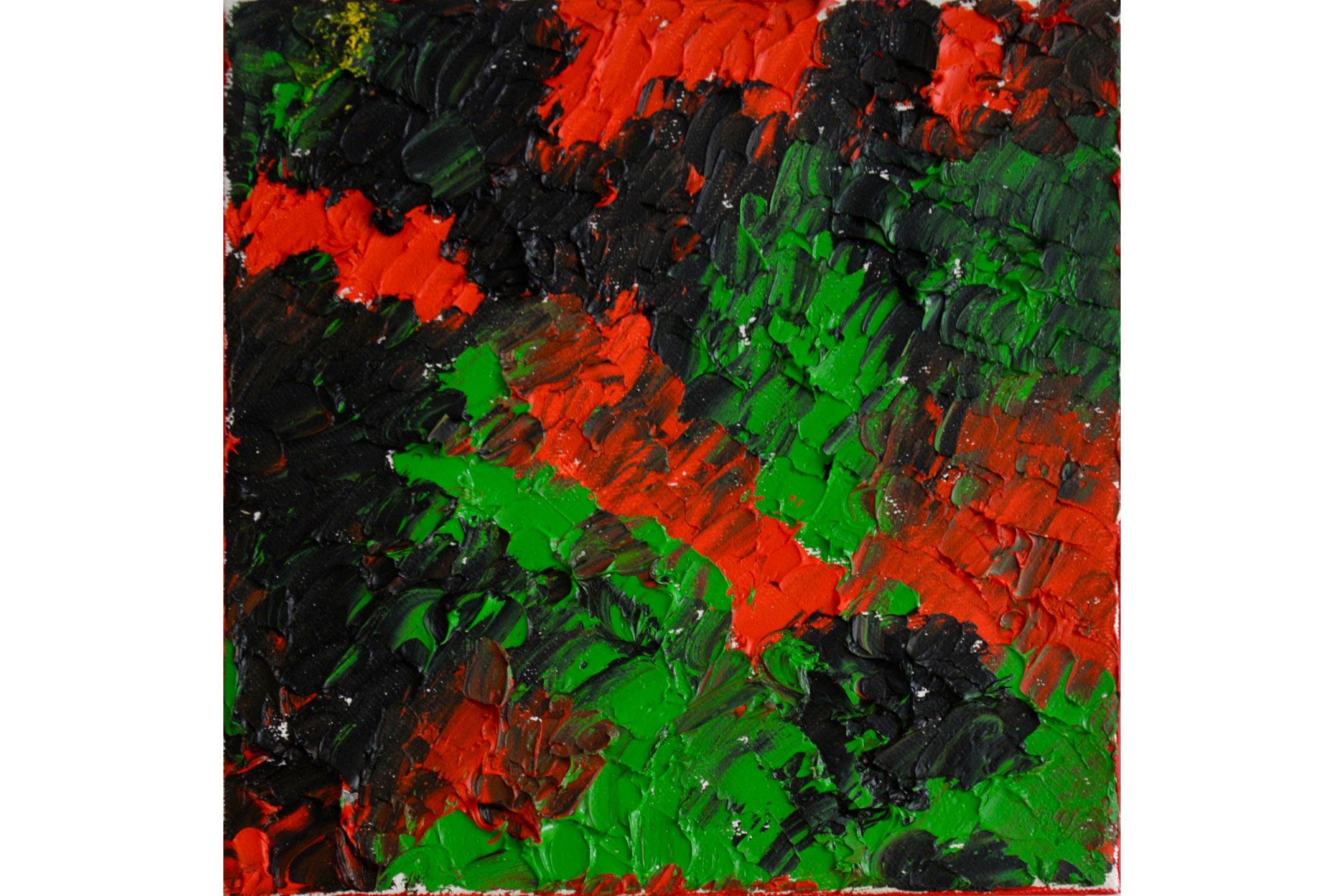 """Vera Sapozhnikova, Colors Play 4, Oil on canvas, 8"""" x 8"""", 2016"""