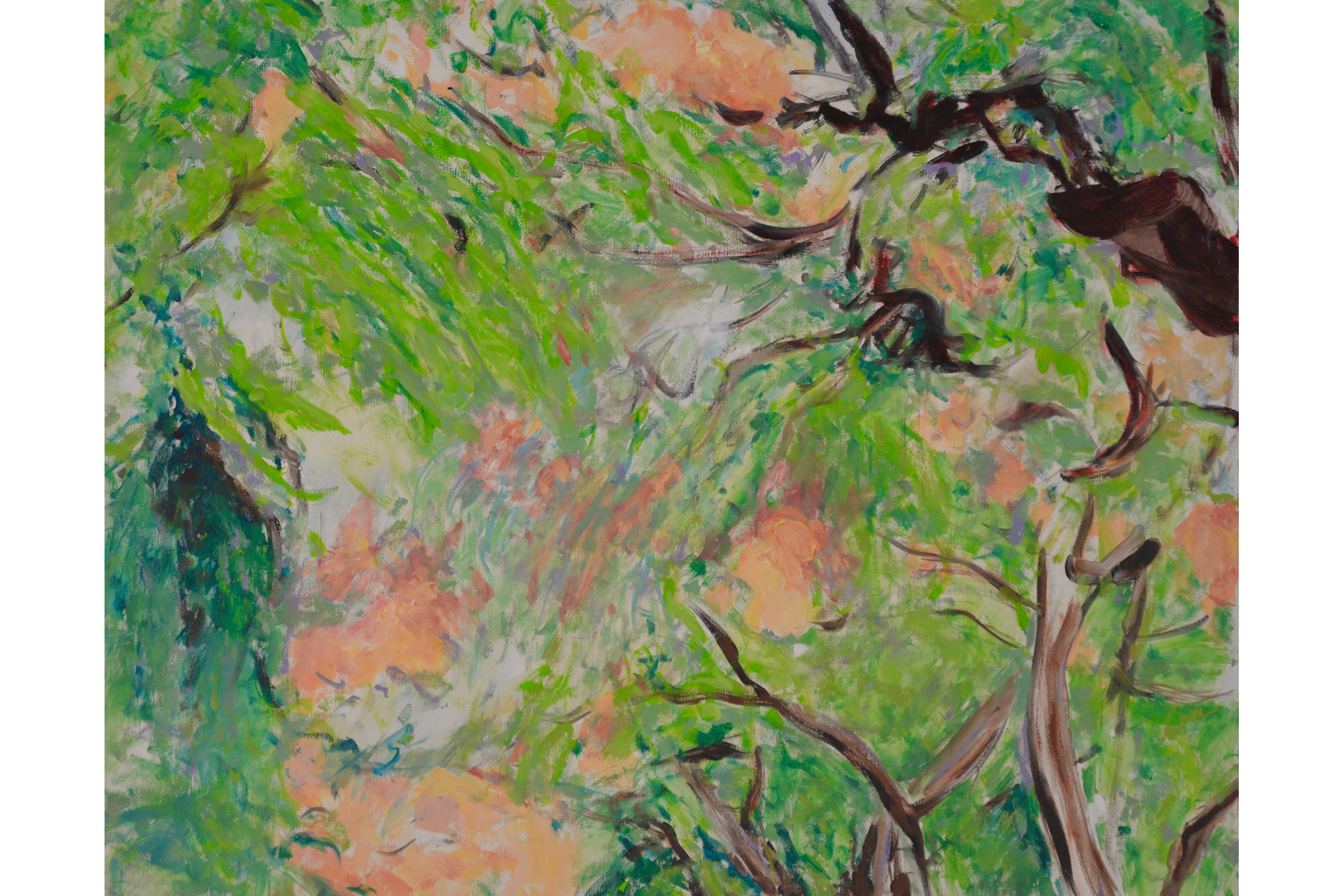 "Sheila Schwid Hawaiian Canopy Oil on linen 24"" x 30"", 2011"