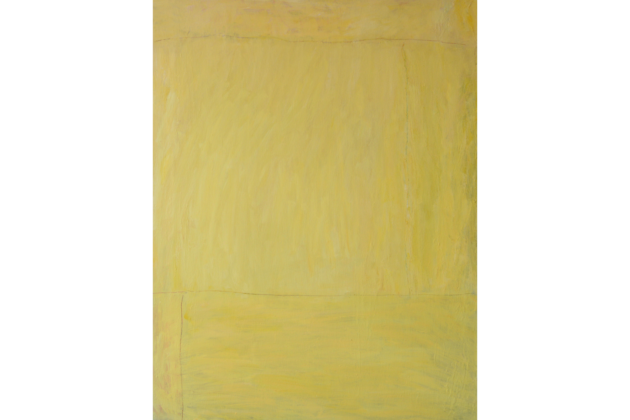"Frances Lyshak Bill's Baby Oil on linen 44"" x 34"", 2007"