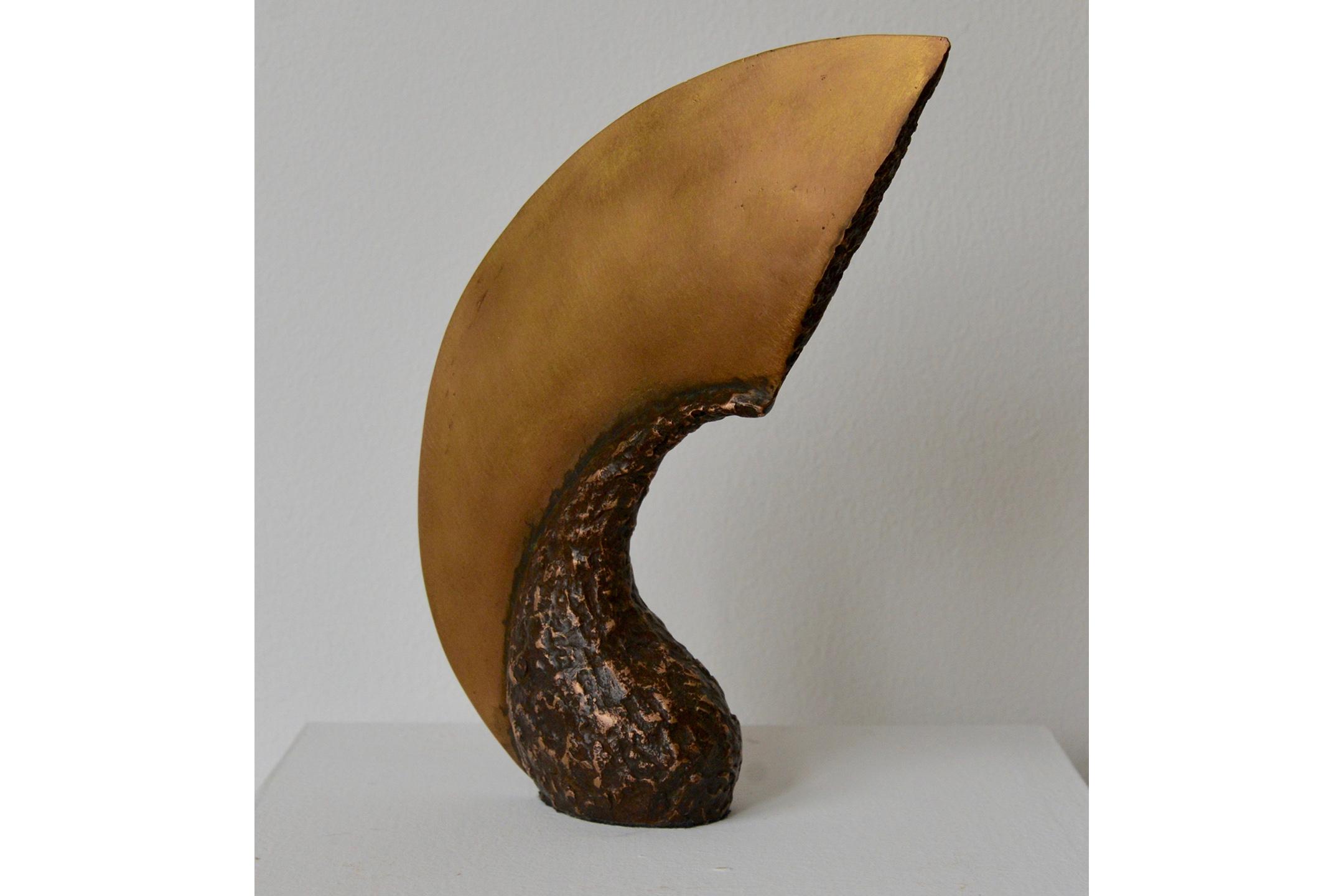 """David Cerulli Gourd Blade Bronze 11"""" x 8"""" x 3"""", 2016"""
