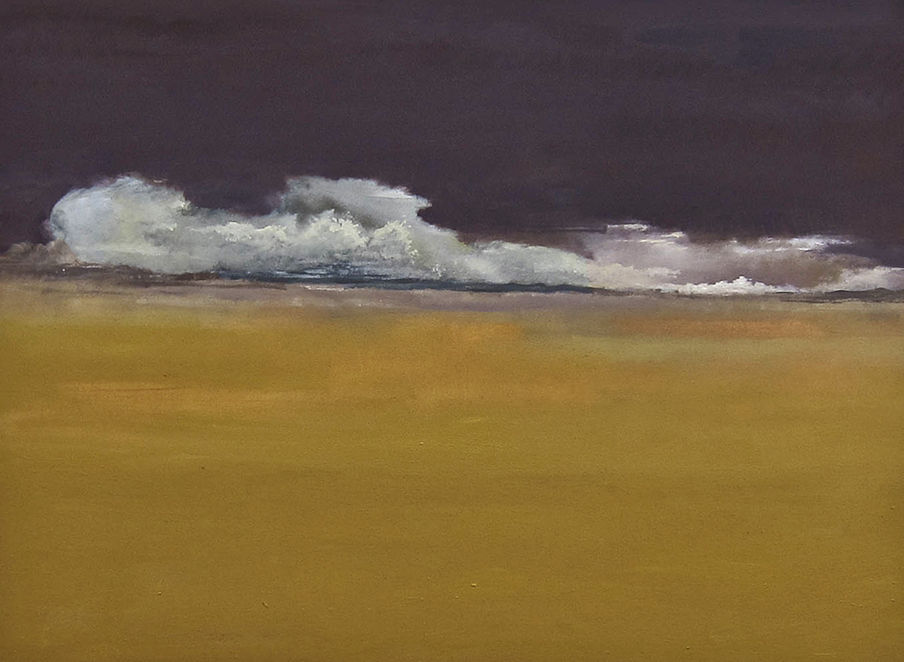 "Howard Nathenson Long Low Clouds Oil on paper 28"" x 36"", 2013"