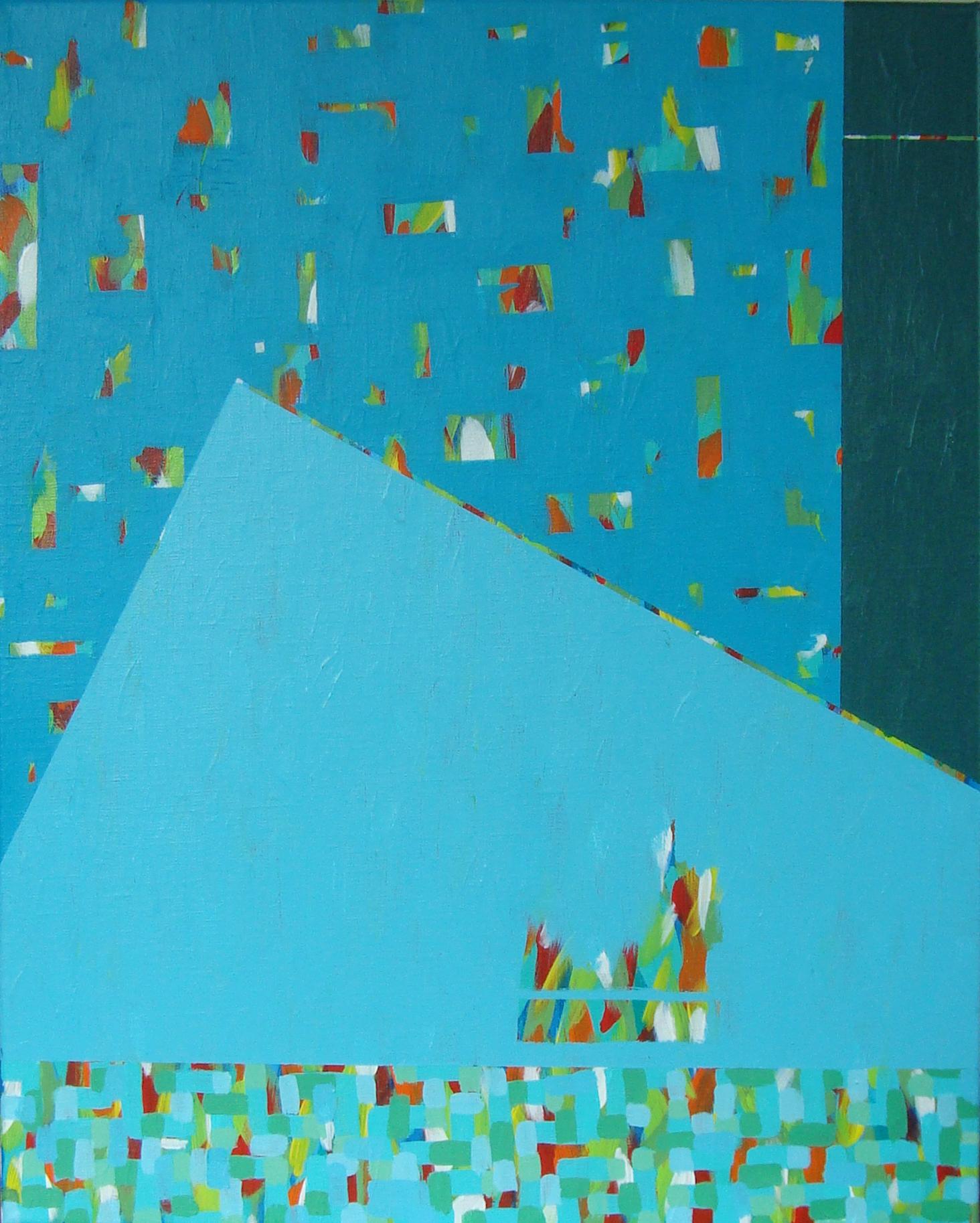 "STACCATO II, acrylic on canvas, 20"" x 16"", 2016"