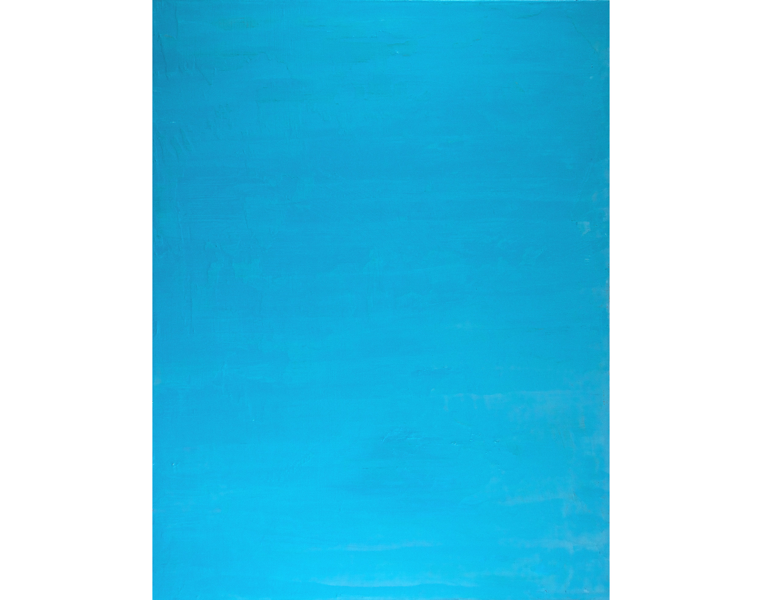 Knives Blue, 2015, Oil on Linen, 34 x 26 inches