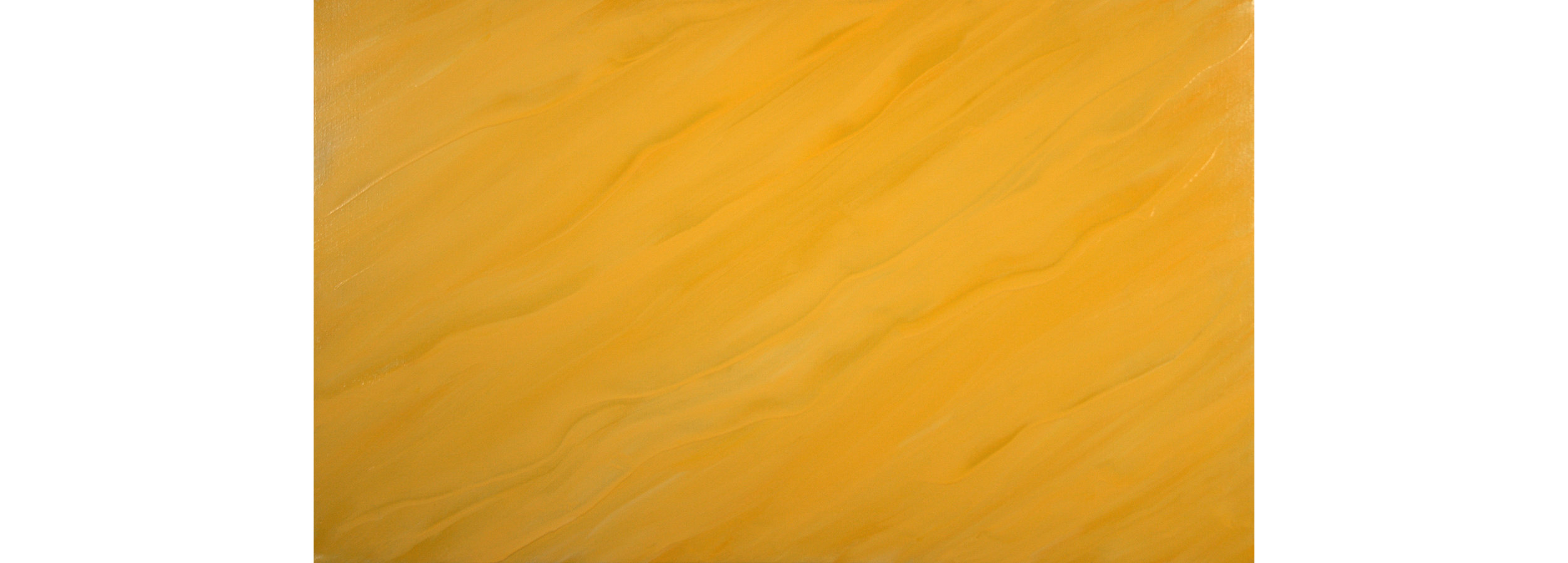 Streaming Yellow, 2015, Oil on Linen, 24 x 40 inches