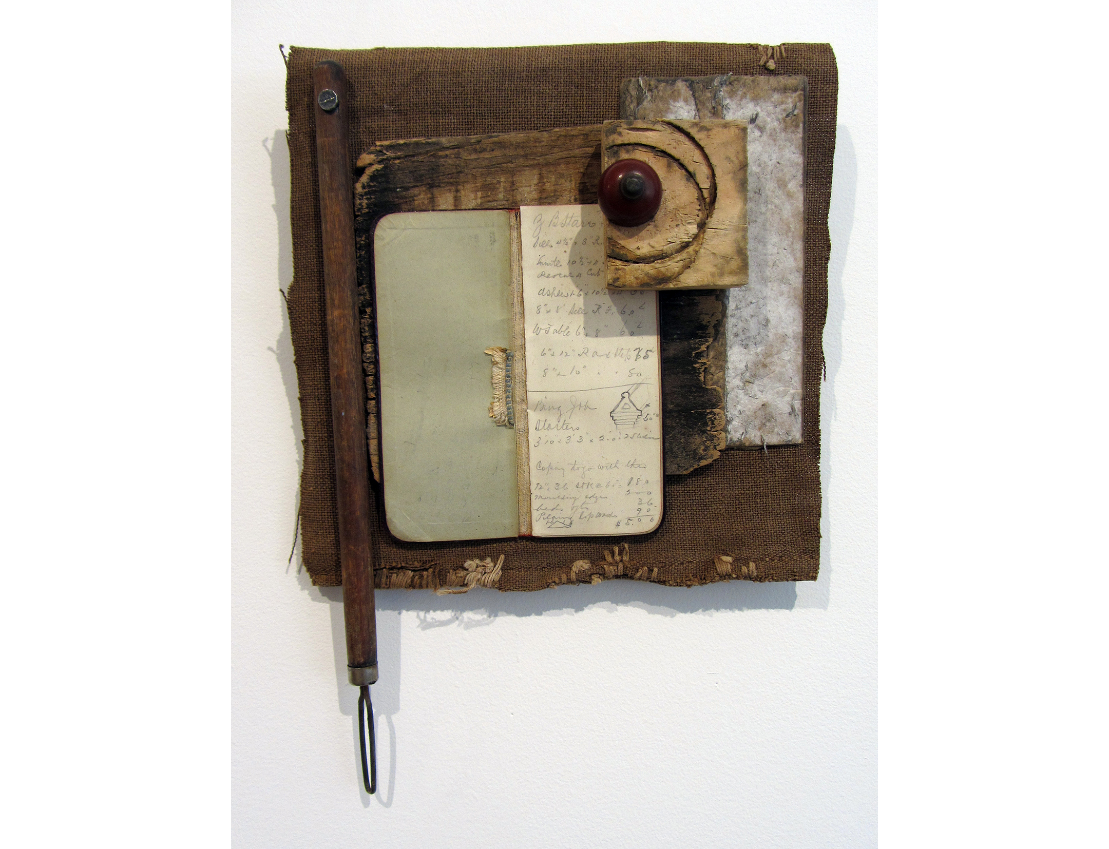 Liz Curtin, A Few Small Repairs I A Book Worth Reading, 2017, Mixed Media, 9 x 12.5 x 2.5 inches, $475.JPG