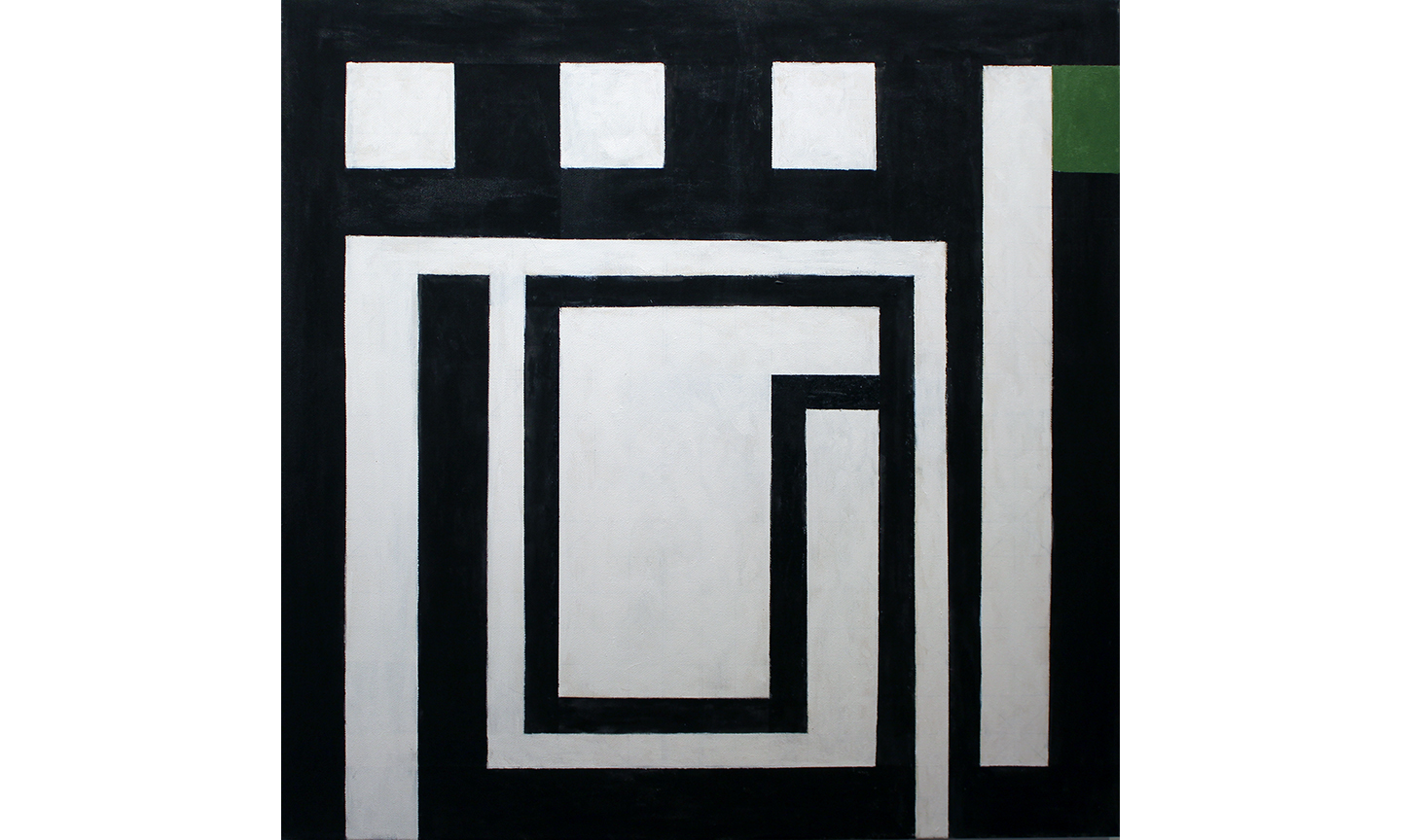 Ludwig, A Touch of Green, 2016, Acrylic on Canvas, 35 x 35 inches, $2,500.jpg