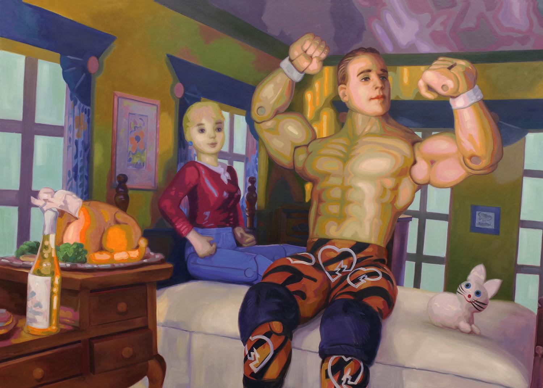 Telenovela_Suburbia   Episode Two_  Oil on Canvas_ 5ft x 4ft_ Khuzami print .jpg