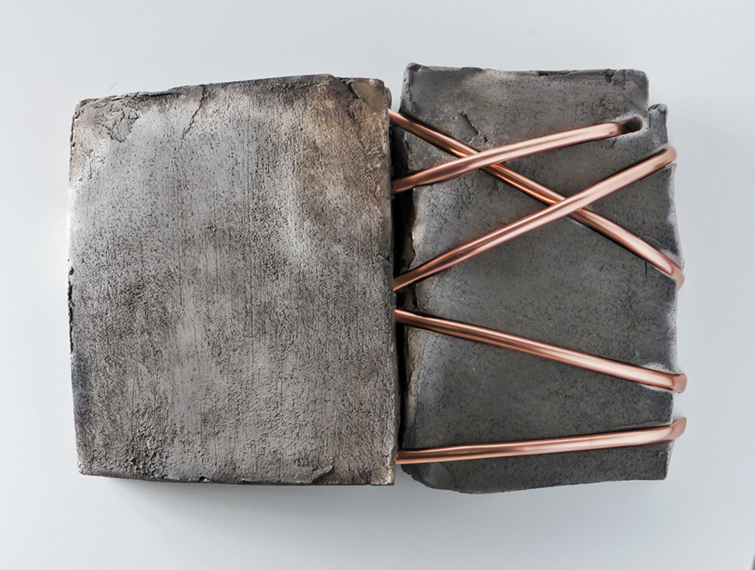 Werner Bargsten, Untitled 19, 2017, clay and copper, 18x27 inches.jpg