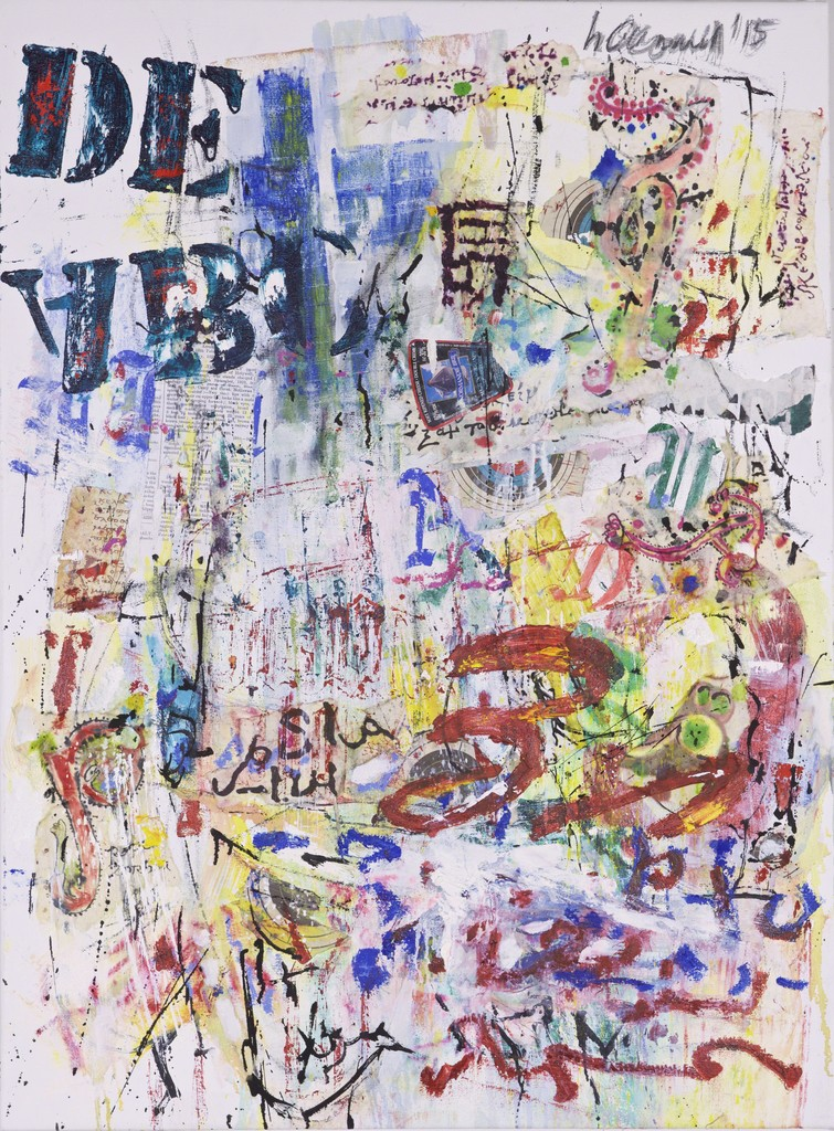 Palimpsest #2, 2015 Oil and mixed media on canvas 36 × 24 in