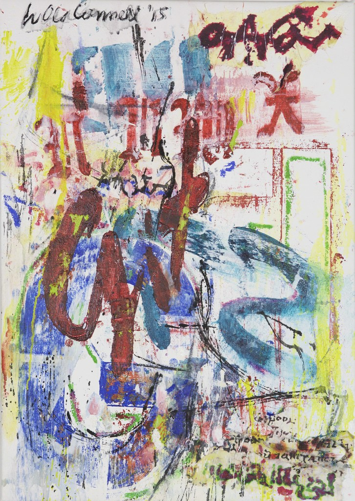 Palimpsest #1, 2015 Oil and mixed media on canvas 24 × 17 in