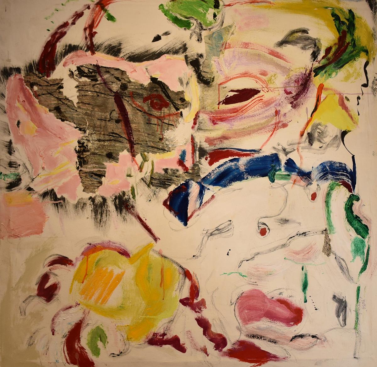 John Beardman, Anger, 2017, Mixed Media on Canvas, 45 x 45 inches, low res.jpg