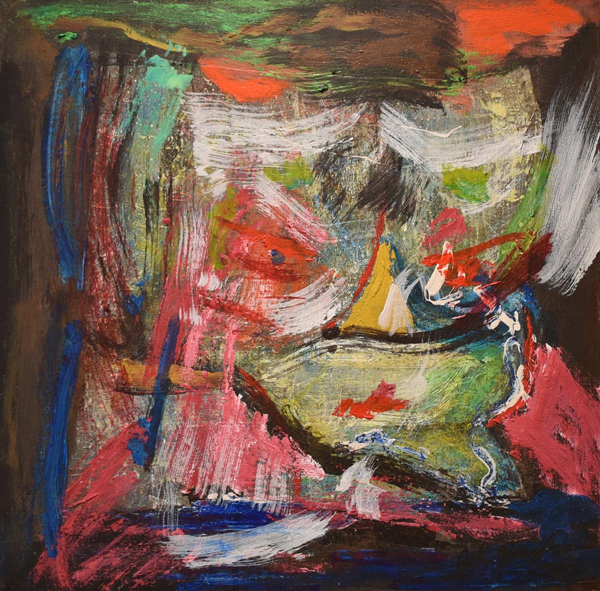 John Beardman, Fury, 2017, Mixed Media on Canvas, 19 x 19 inches, low res.jpg