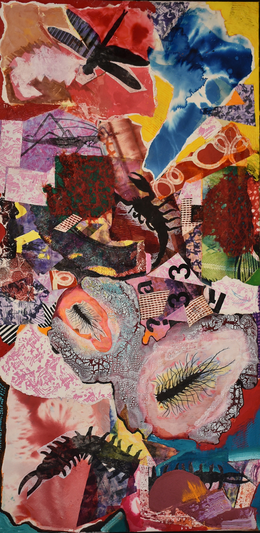 Cari Rosmarin Life Forms 2017 Mixed Media on Canvas 50 x 21 ½ inches $1,500, low res.jpg
