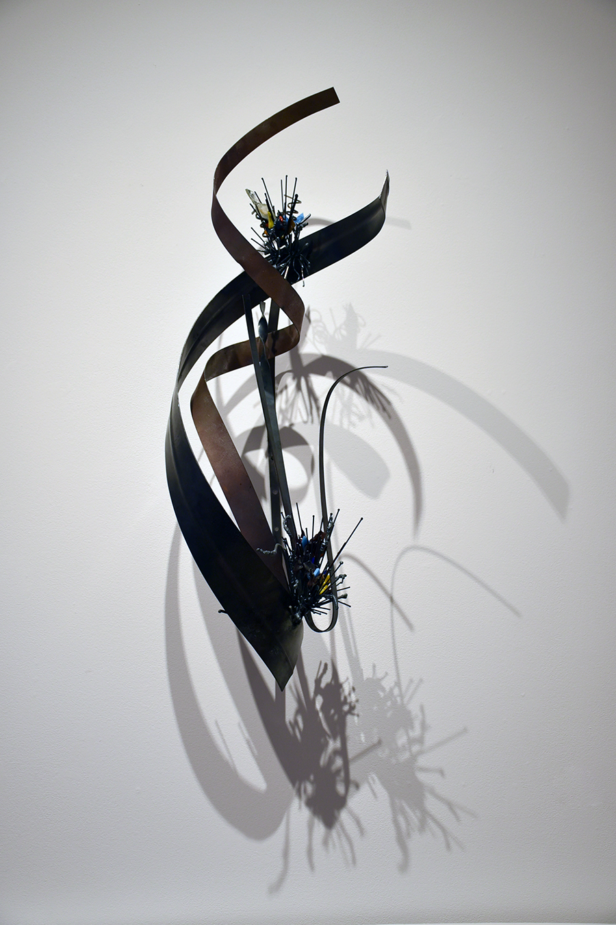 Mary Rieser Heintjes Elements- 26 Iron 2018 Welded Steel & Fused Glass 33 x 12 x 14 inches $4,800, low res.jpg