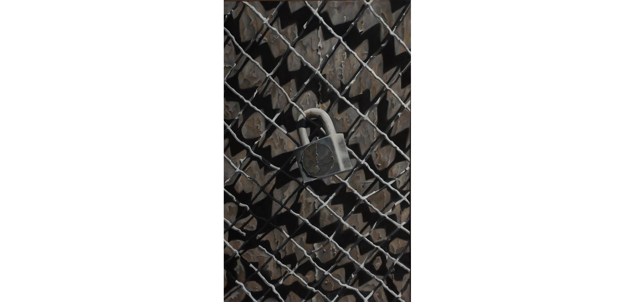 ScottGeyer_Lock on Fence_48x30_$3750.jpg