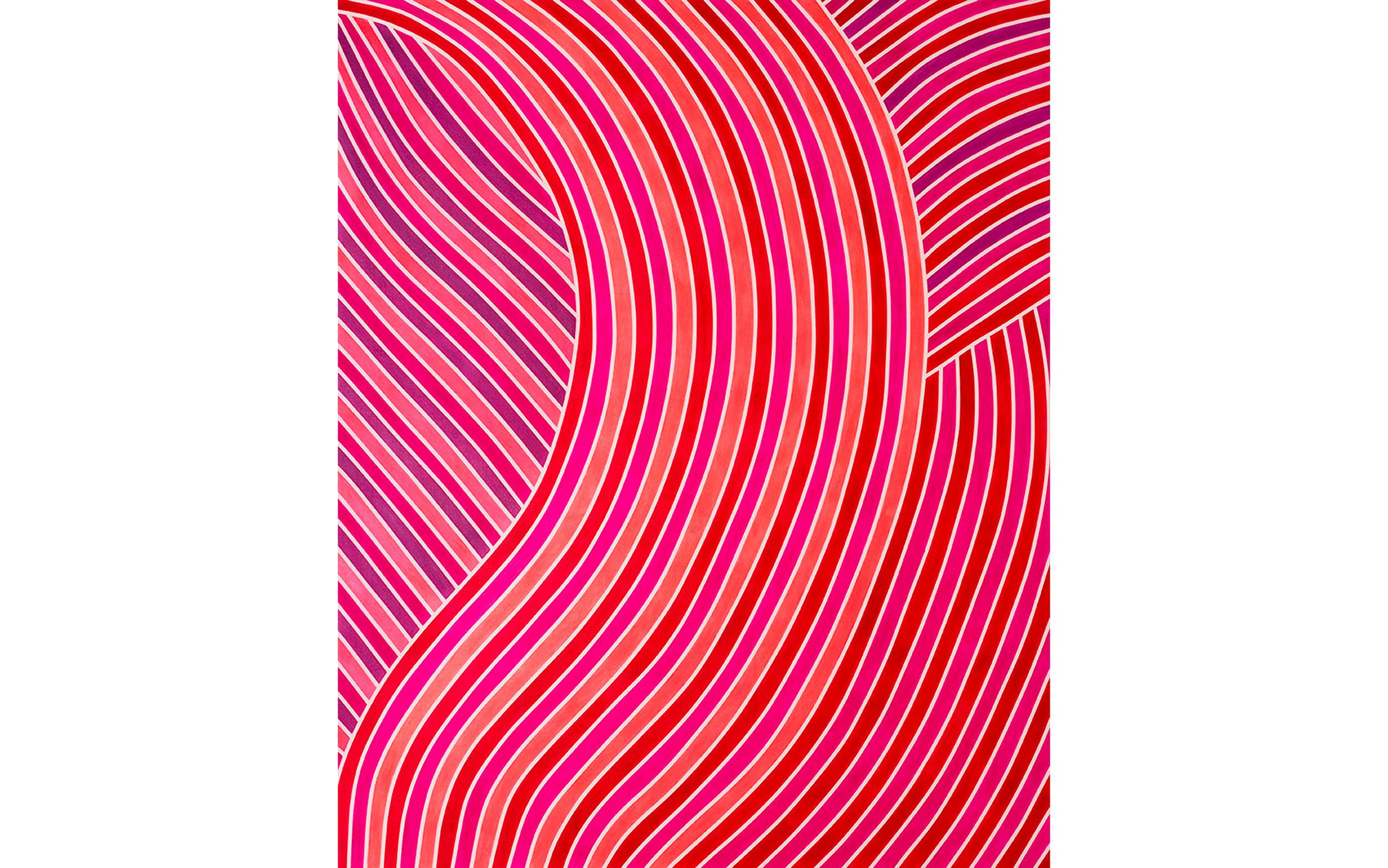 * Jennifer Woolcock Schwartz;Pink Clash; 2017; 46x54;  $5000[1], white.jpg
