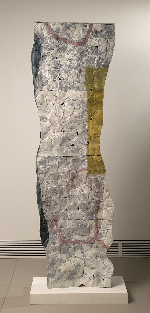 Linda Casbon, Column, ceramic, 8x25x72, 2012.jpg