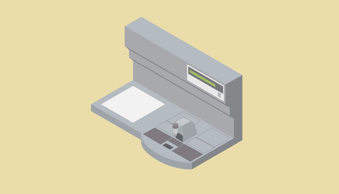 Processed tissue fragments are taken out of the processor and cassettes and transferred to a tissue embedding station.