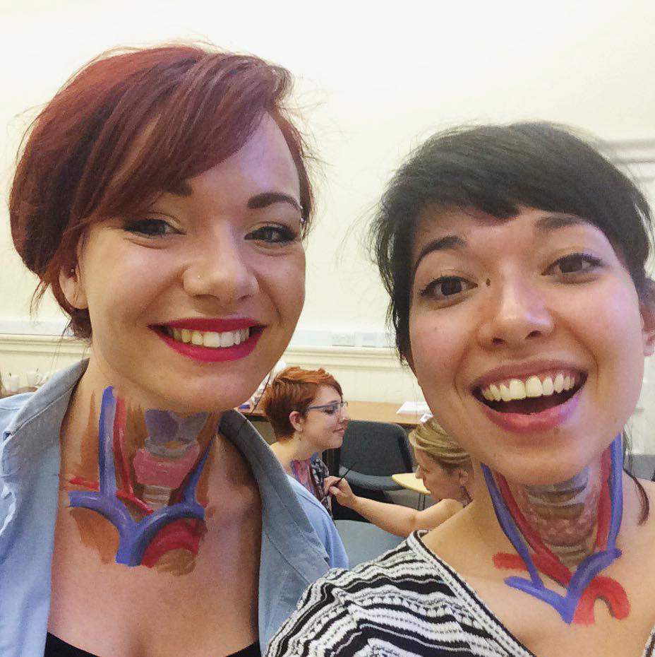 Here's Emily and I after we finished the anatomy painting workshop