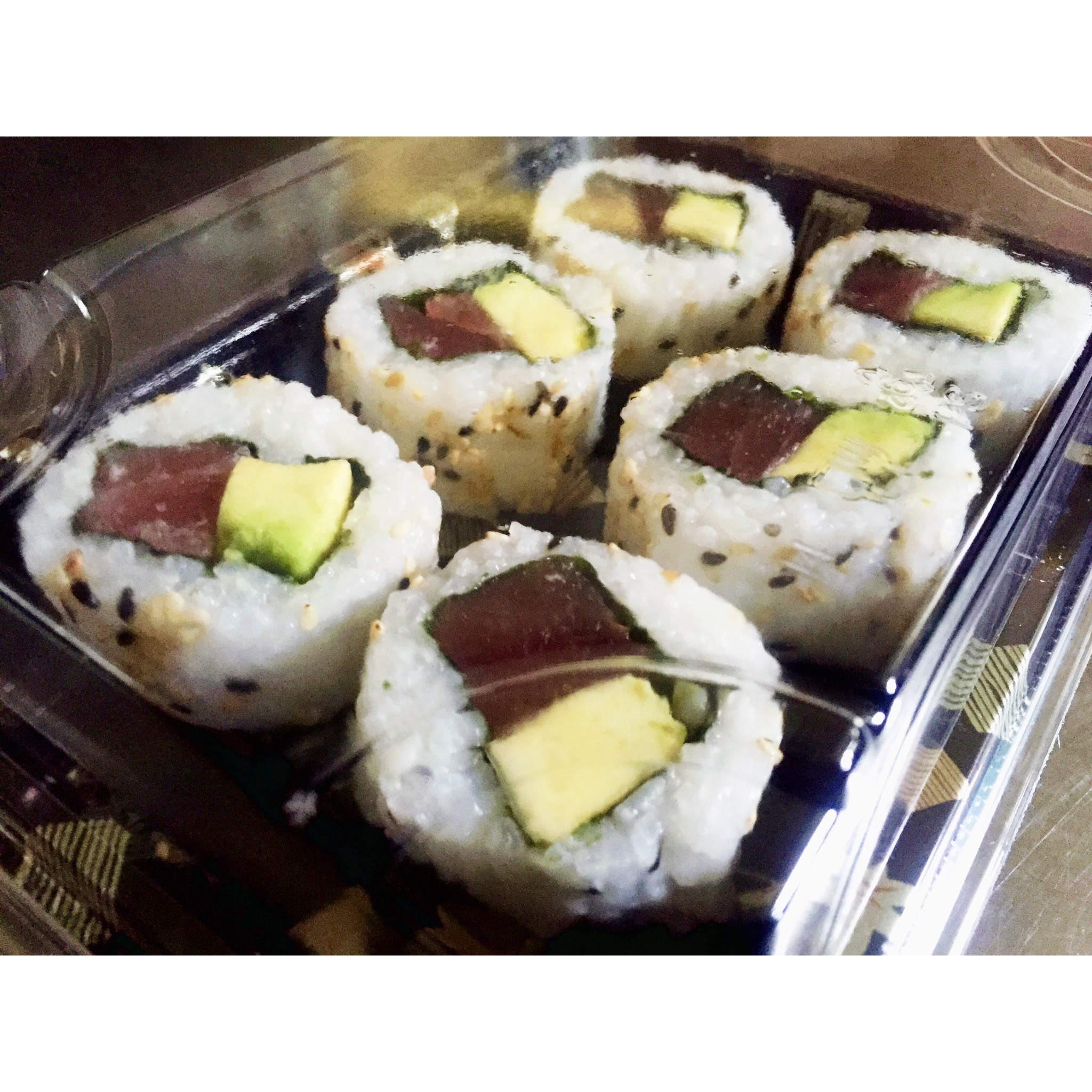 Tuna & Avocado Inside Out Rolls - £7