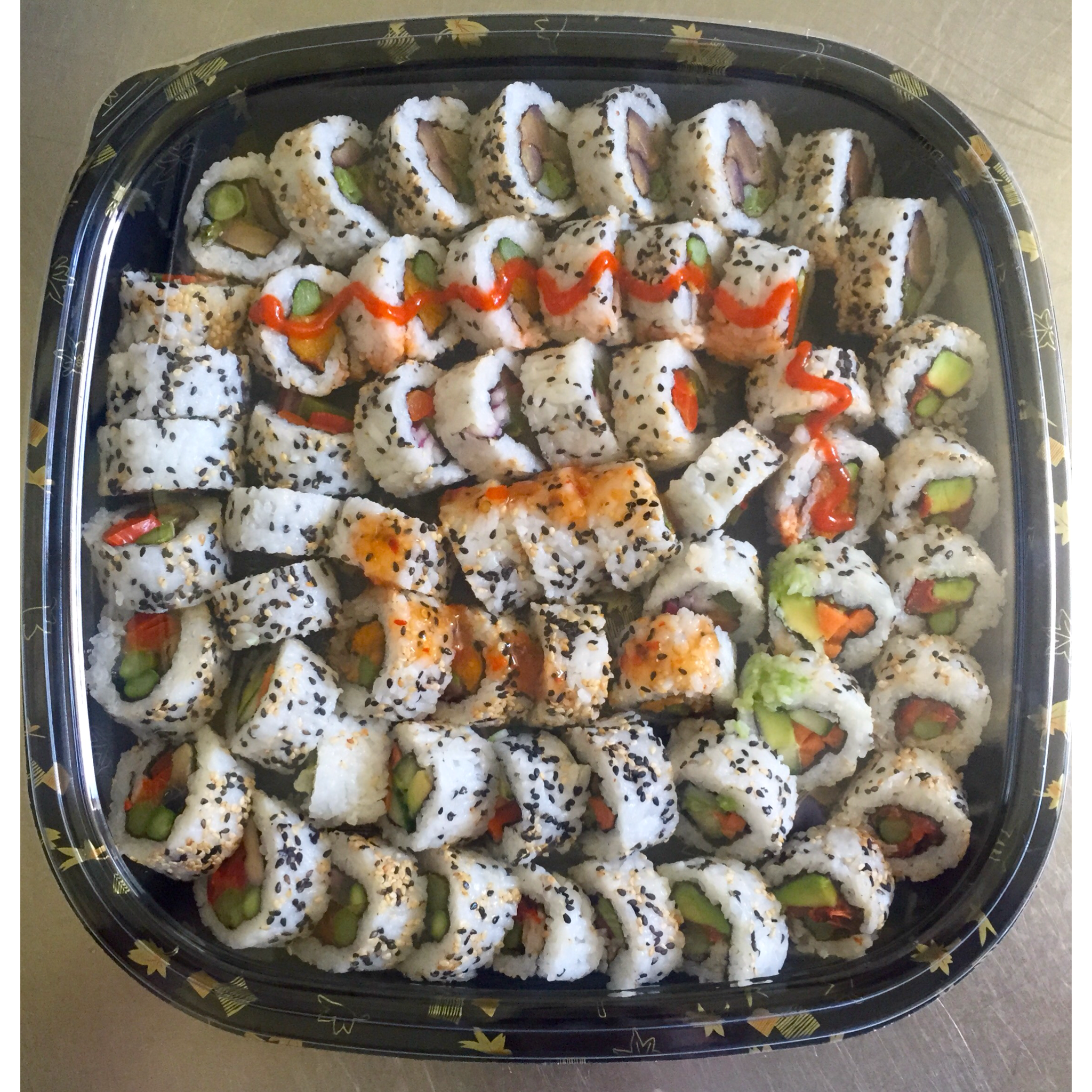 The Vegetarian Roll Platter - £32