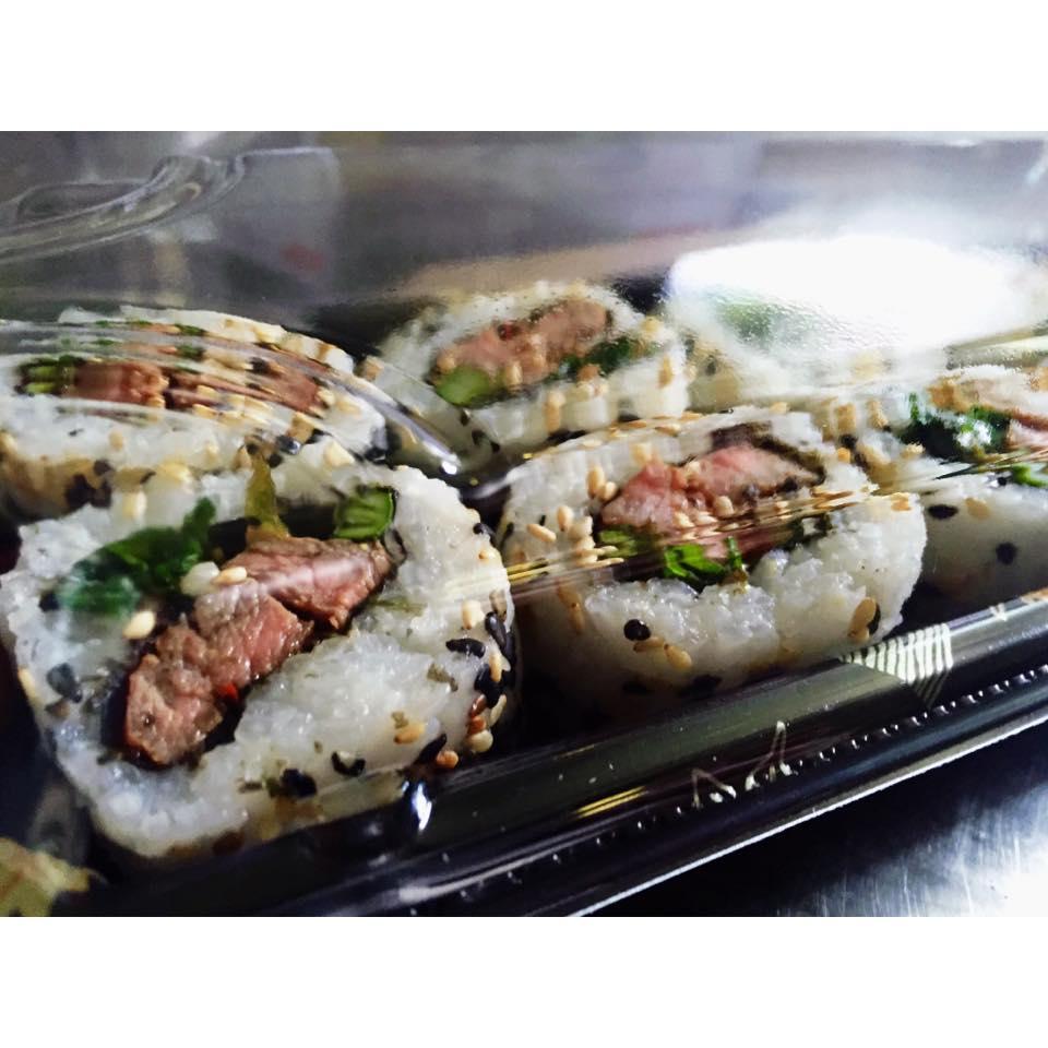 Steak, Asparagus & Kale Inside Out Rolls - £6