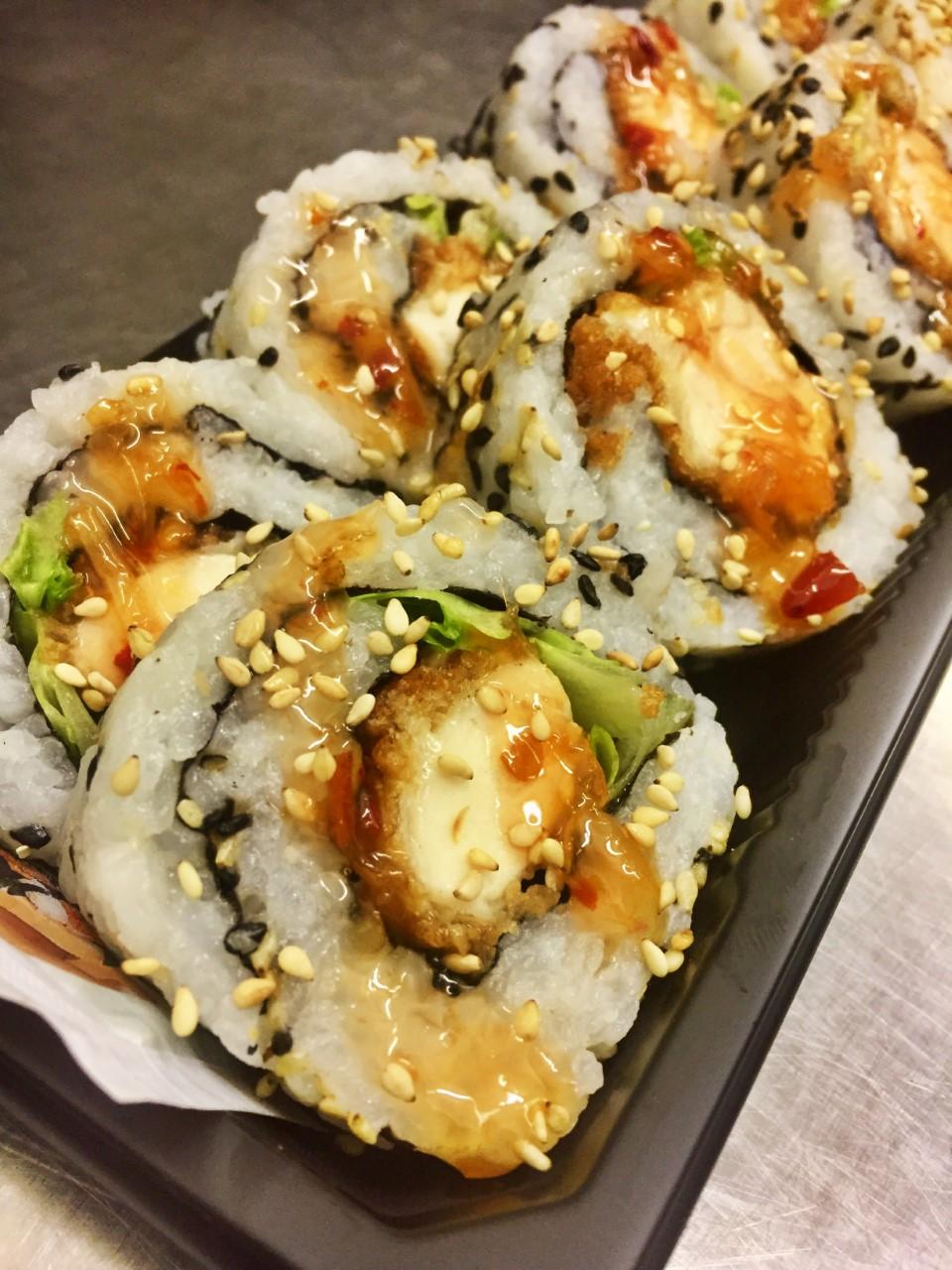 Chicken Katsu Roll with Sweet Chili - £6