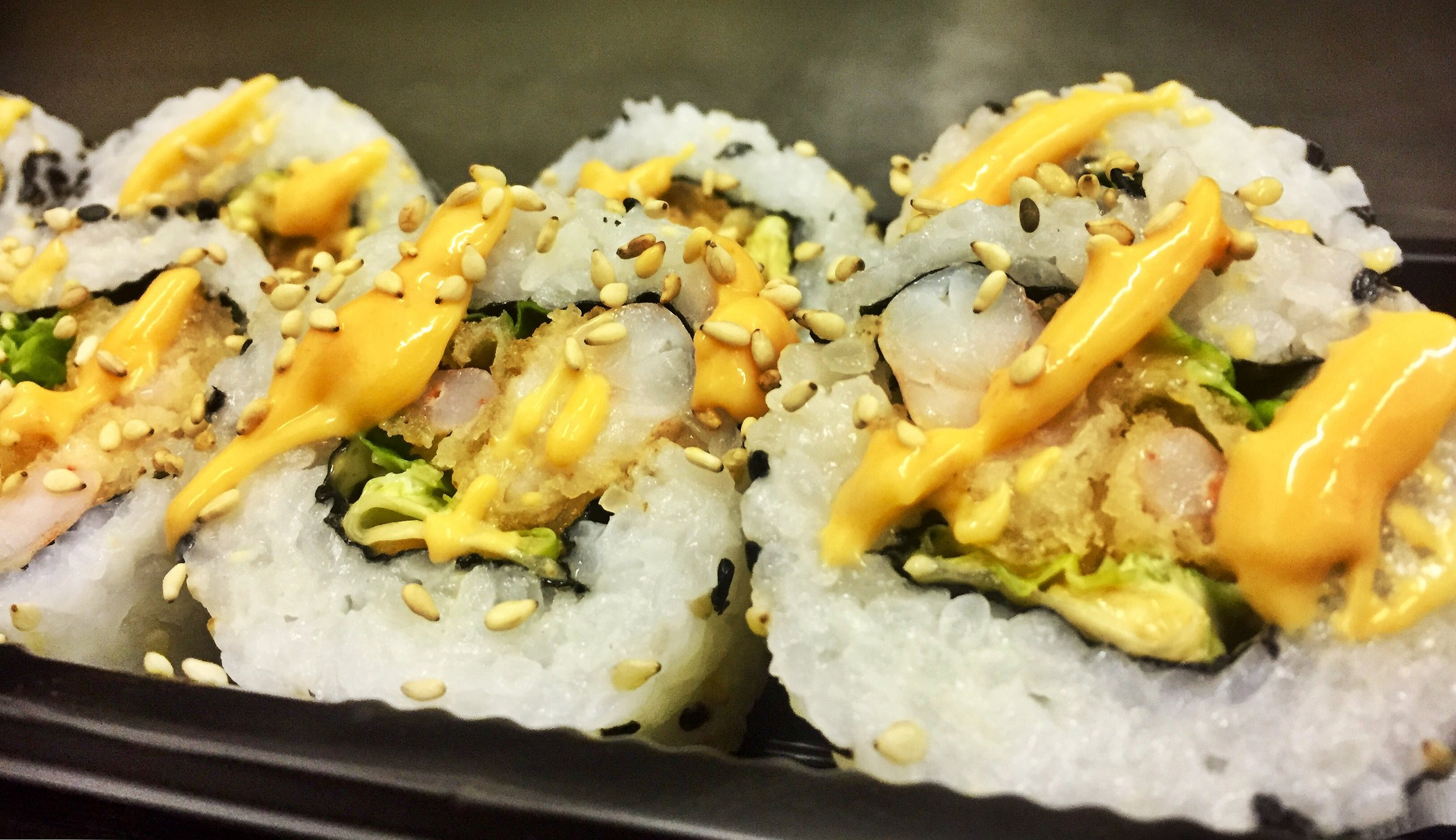 Tempura Prawn Roll - £5.50  *contains gluten