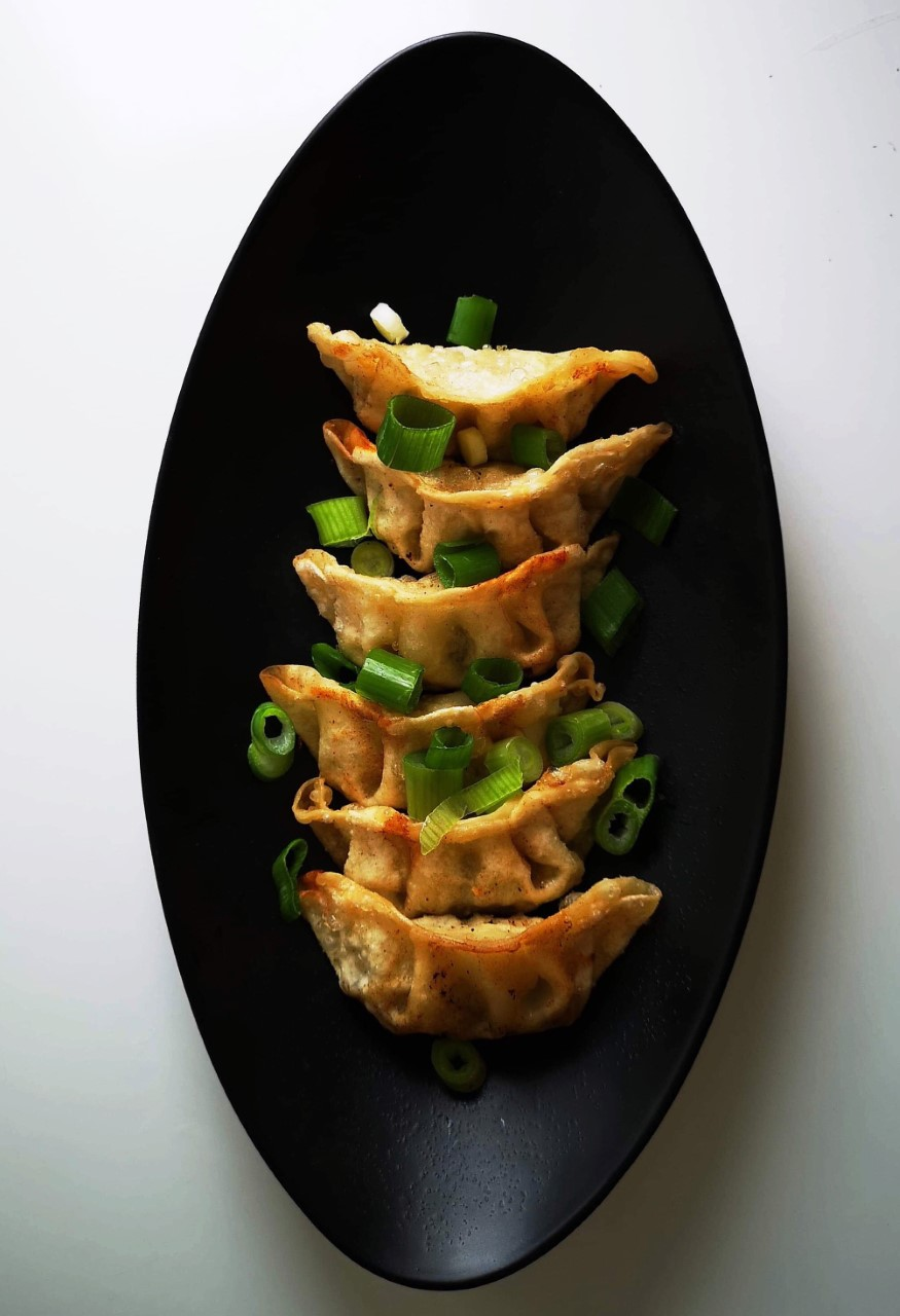 Chicken & Pork Gyozas - £6.50  Contains Gluten