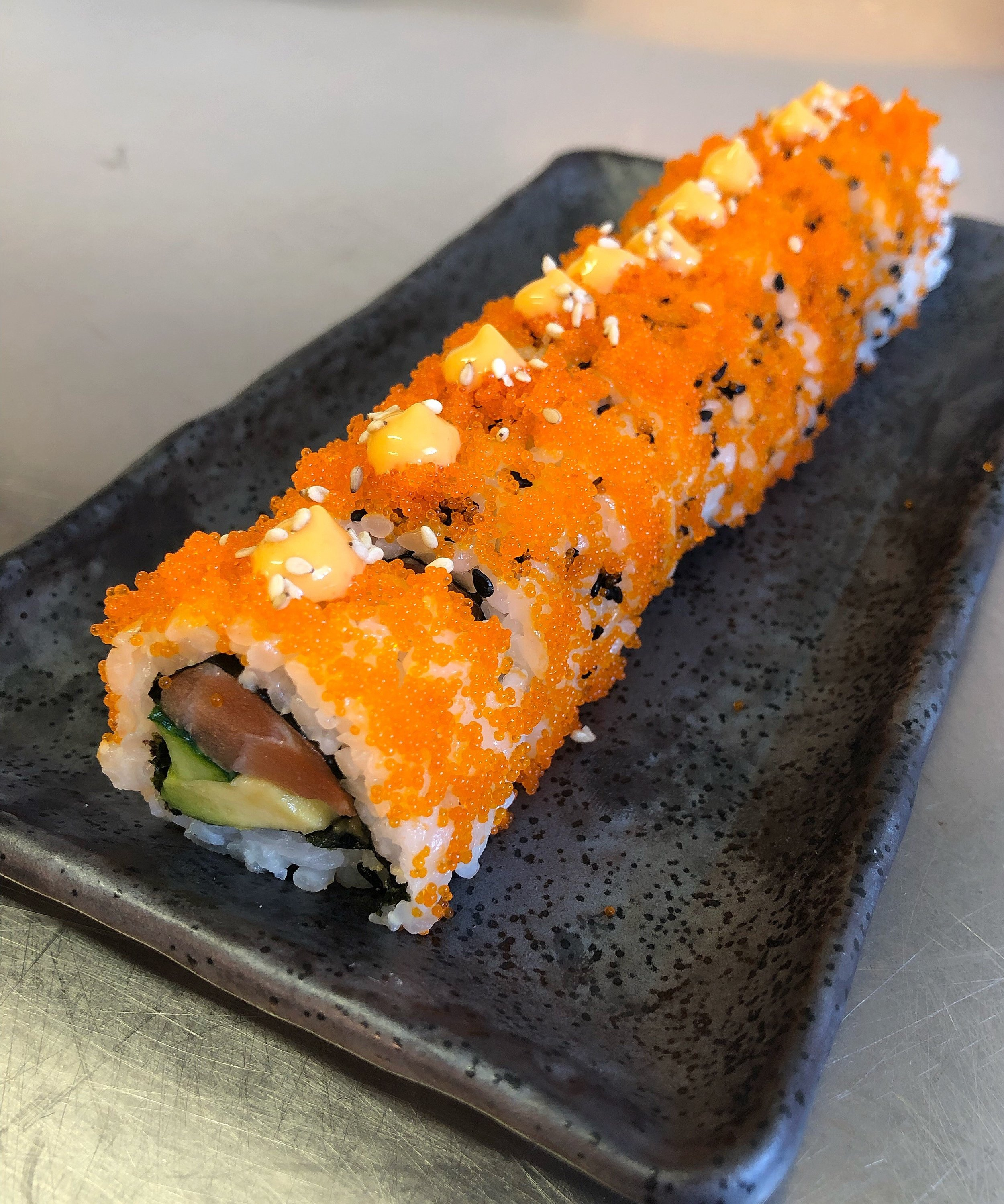 Tobiko Salmon Roll - £7.50