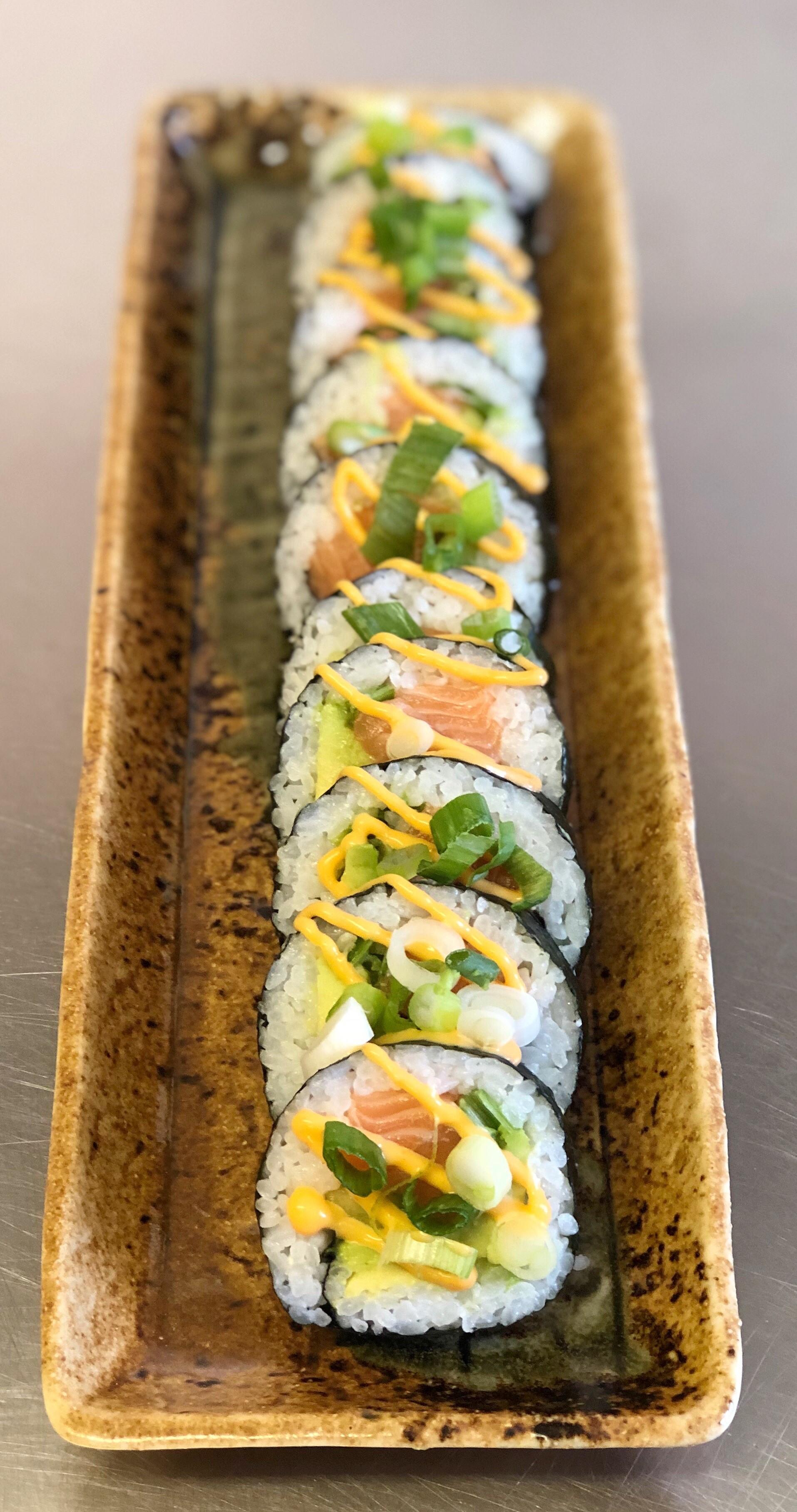 Spicy Salmon Futomaki - £7