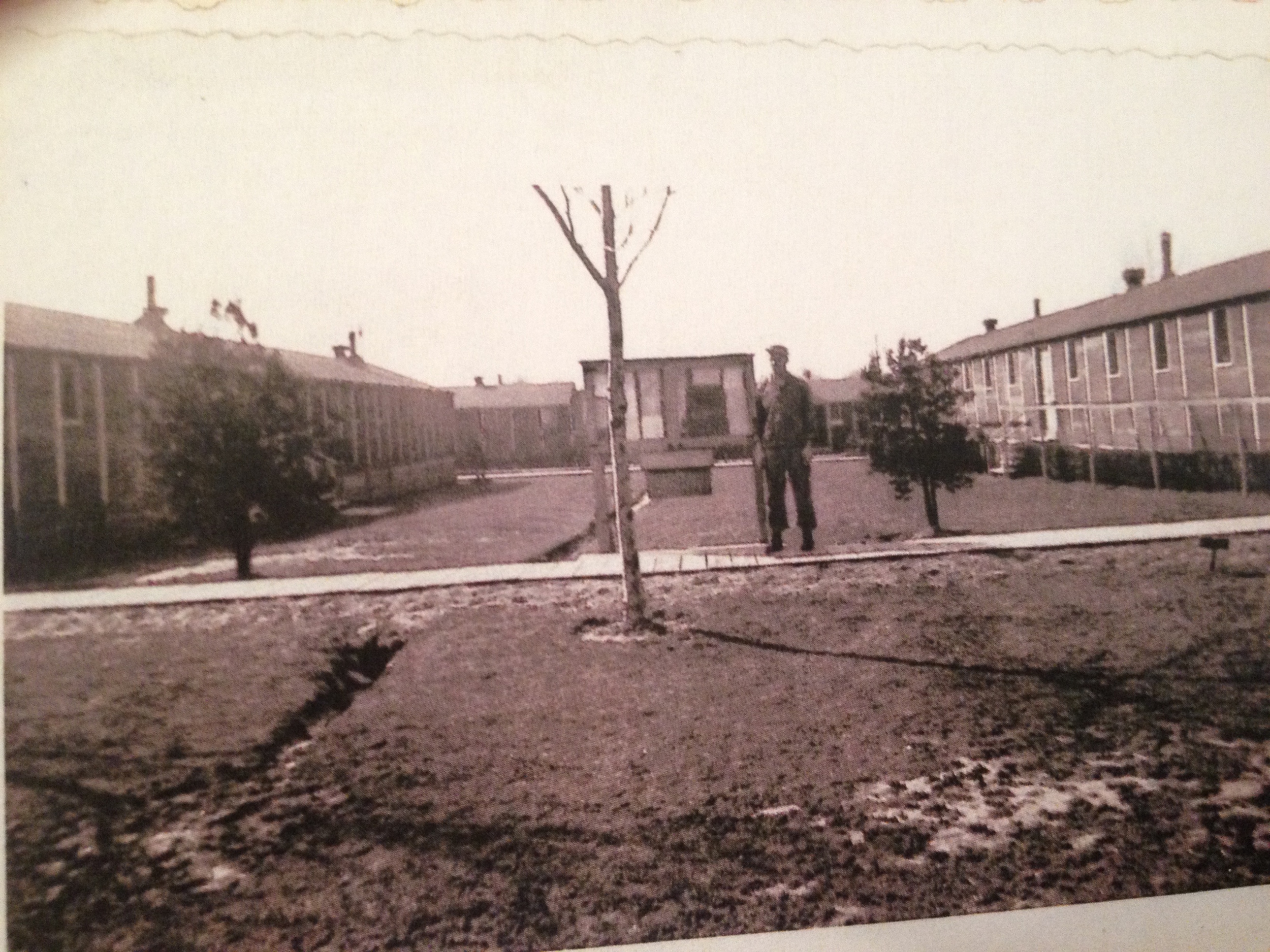 Some of the barracks at P.O. Box 1142.  Photo courtesy of Bill Cooke.