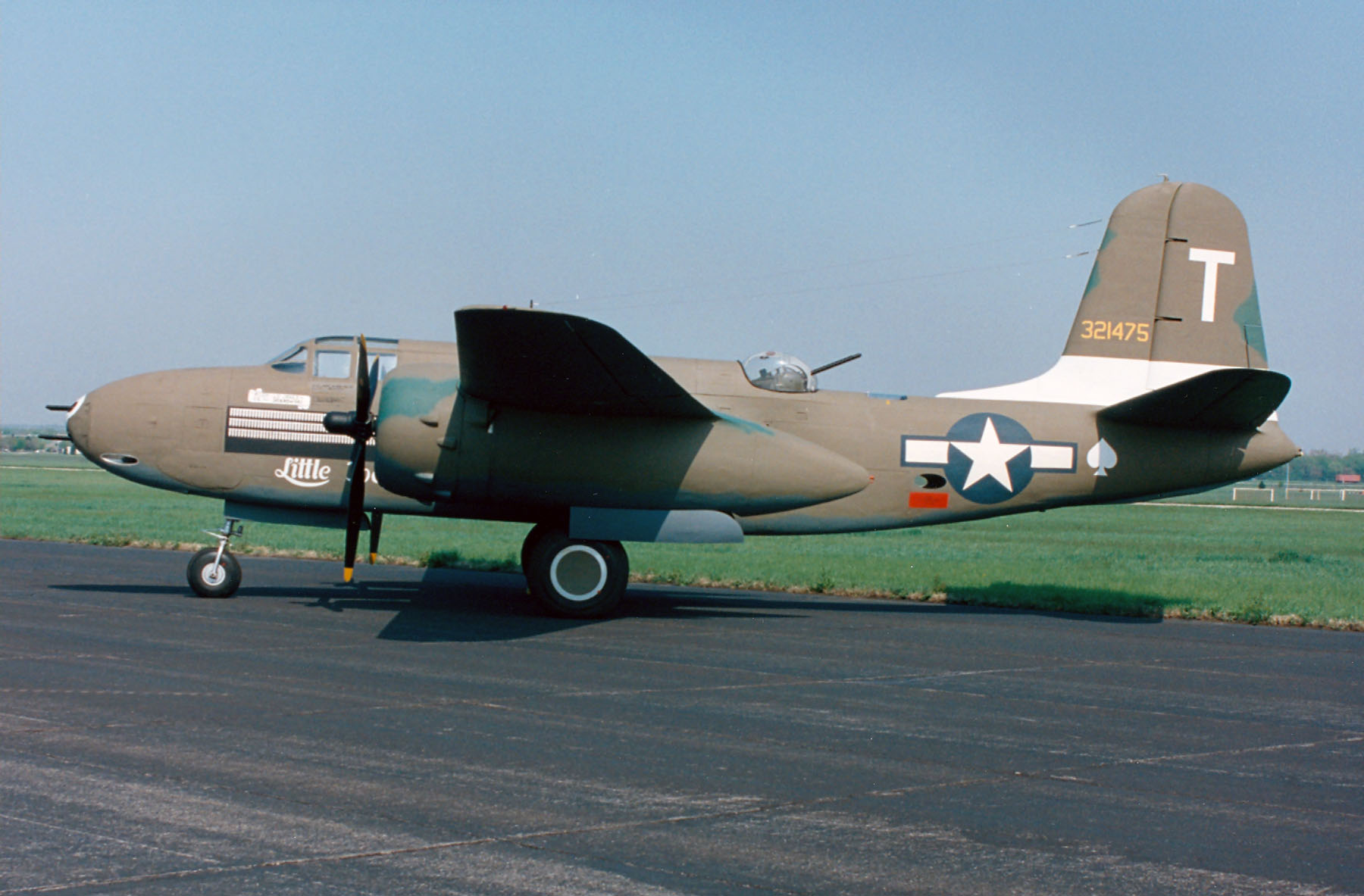 THIS IS A DOUGLAS A-20G HAVOC AT THE NATIONAL MUSEUM OF THE UNITED STATES AIR FORCE IN DAYTON, OHIO.  THE BANKERS LIFE AND CASUALTY COMPANY, OF CHICAGO, ILLINOIS, DONATED THIS PLANE TO THE MUSEUM IN 1961.    PHOTO COURTESY OF THE U.S. AIR FORCE.