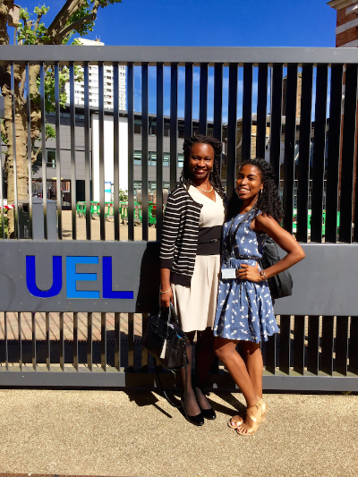 My Spelman research mentor, Dr. Bass, came all the way to London to visit me at work!