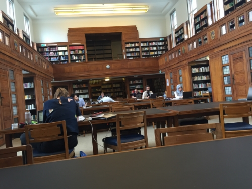 When working in the lab became a bit depressing, I ran over to the Senate House Library. It's such a beautiful study space.