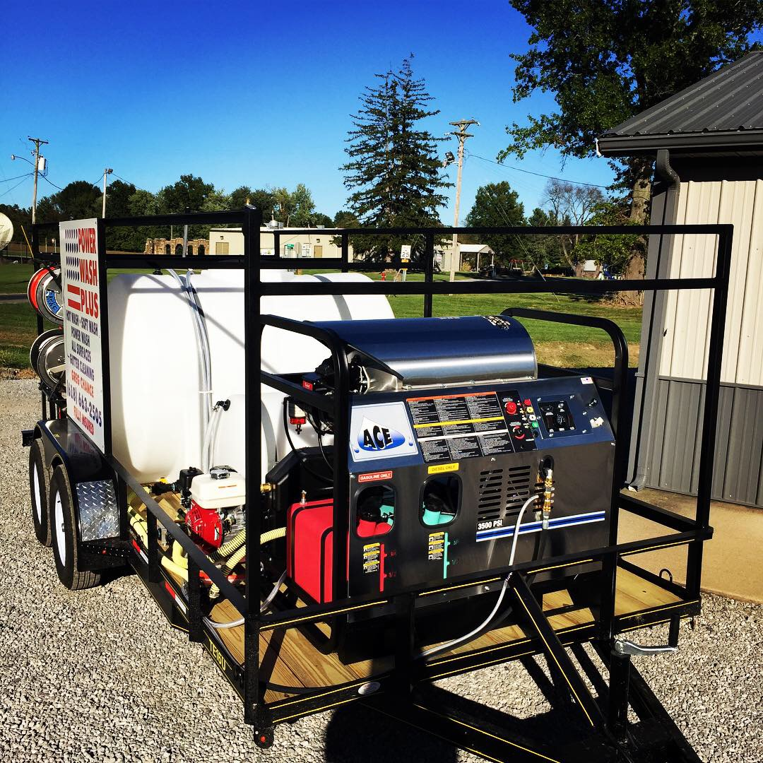 HDS Series Trailer - 3500 PSI @ 5.6 GPM HDS Series290 PSI @ 11 GPM Gas Powered Softwash Pump