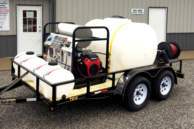 HDS Series Trailer - 3500 PSI @ 5.6 GPM12' Trailer, 535 Gallon Water, 2) 35 Gallon Chemical