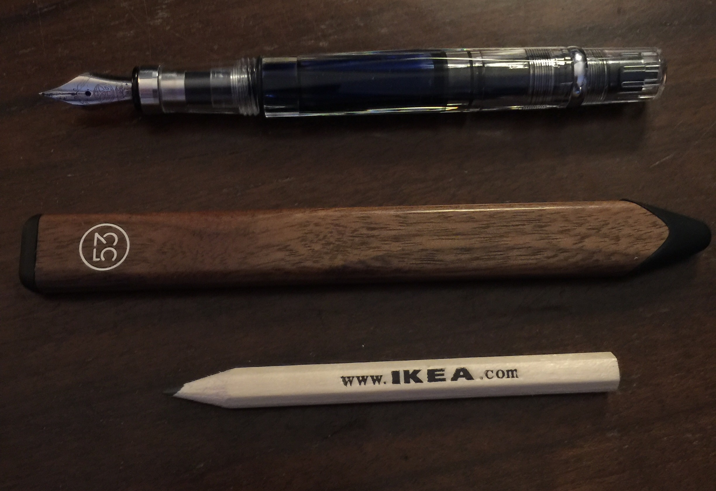 TWSB fountain pen, 53 iPad stylus, IKEA freebie