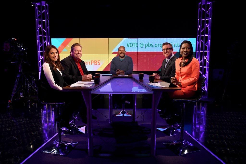 Left to right: Monica Mehta, Tom Shattuck, Carlos Watson (host), Matt Welch, and Isabel Wilkerson