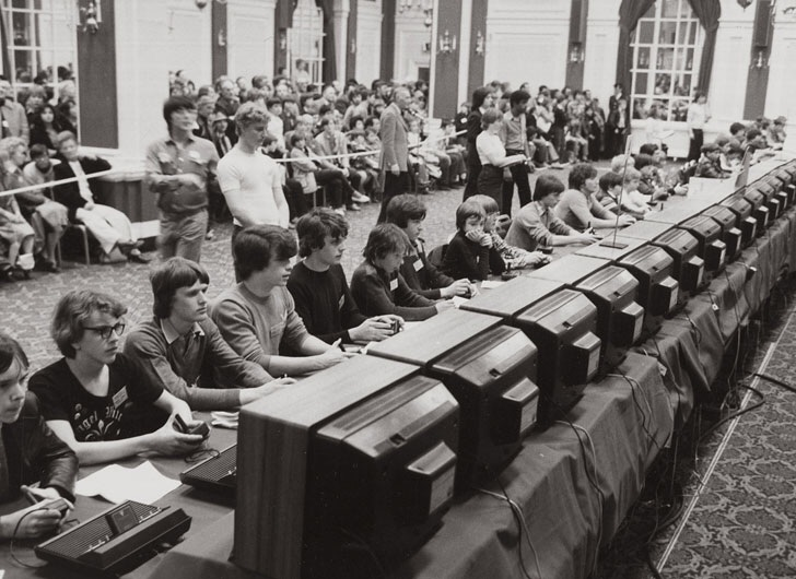 Atari's National Space Invaders Championship in 1980