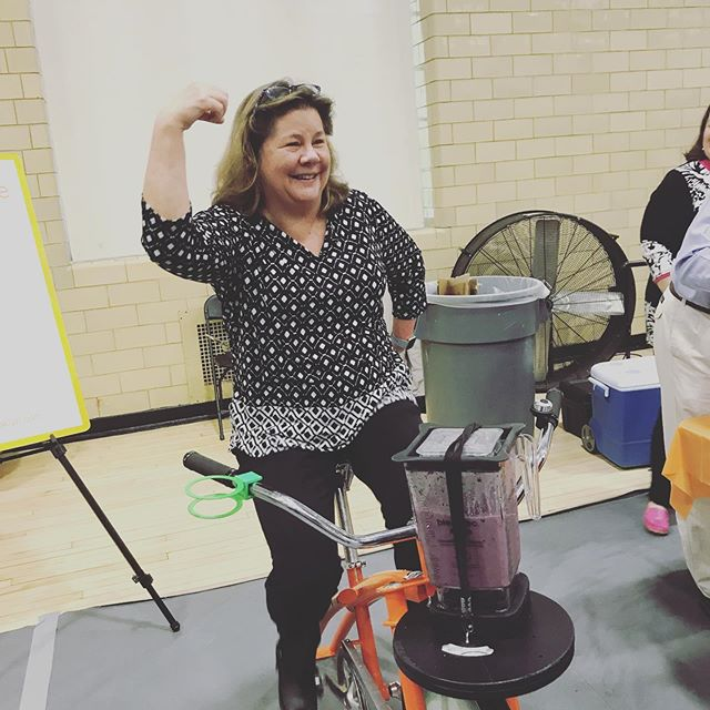 Sweetcycle at @princeton 2019 — health and wellness fair in Dillon gym.  #healthandwellness #healtysmoothie